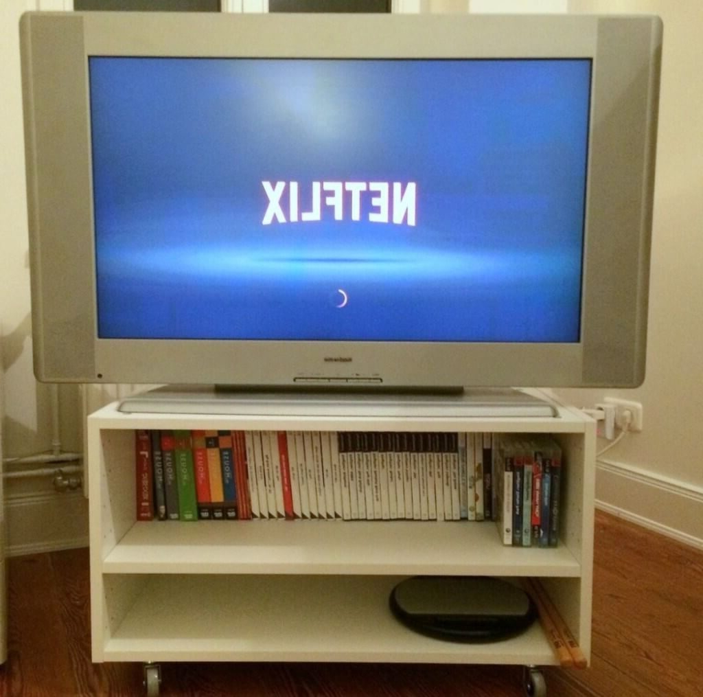 Most Popular Small White Tv Stands Within Furniture: White Swivel Small Tv Stand With 2 Tier Open Shelves (View 10 of 20)