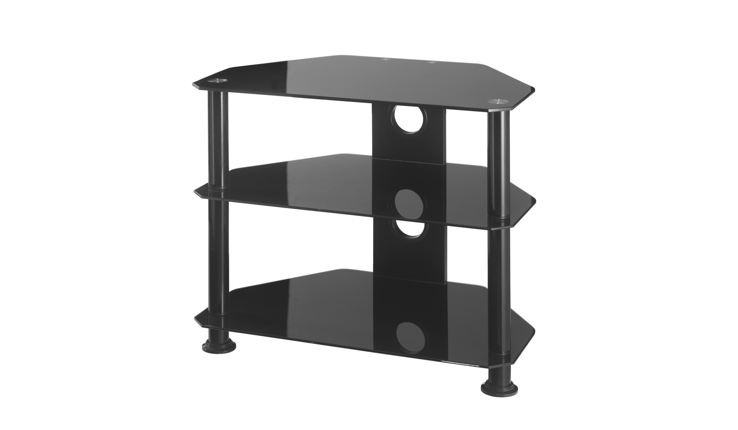 Most Popular Tv Stand Small Black Glass Corner Tv Stand – Furnish Ideas Regarding White Small Corner Tv Stands (View 10 of 20)