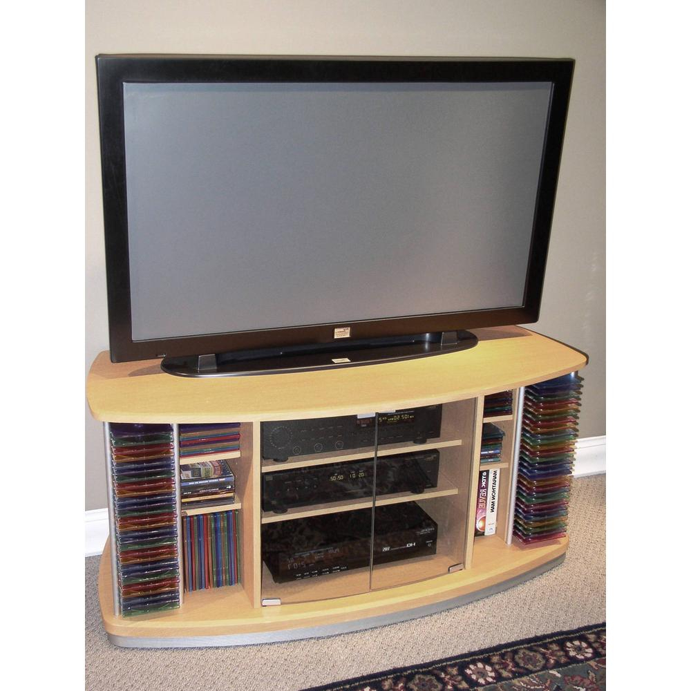 Most Recent 4d Concepts Beech Entertainment Center 242605 – The Home Depot For Beech Tv Stands (View 3 of 20)