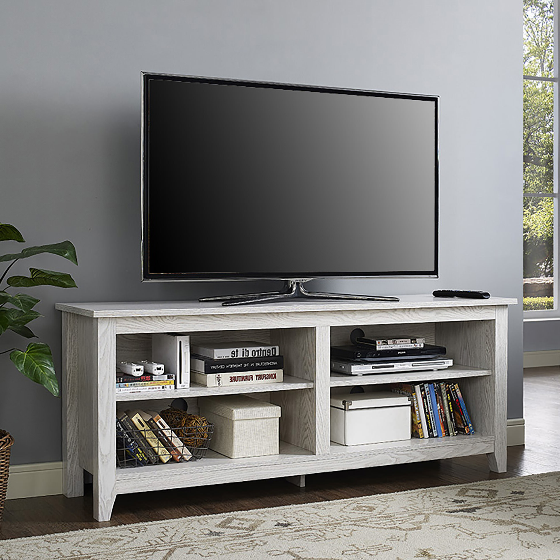 Most Recent 58 Inch White Wash Wood Tv Standwalker Edison Pertaining To White And Wood Tv Stands (View 15 of 20)