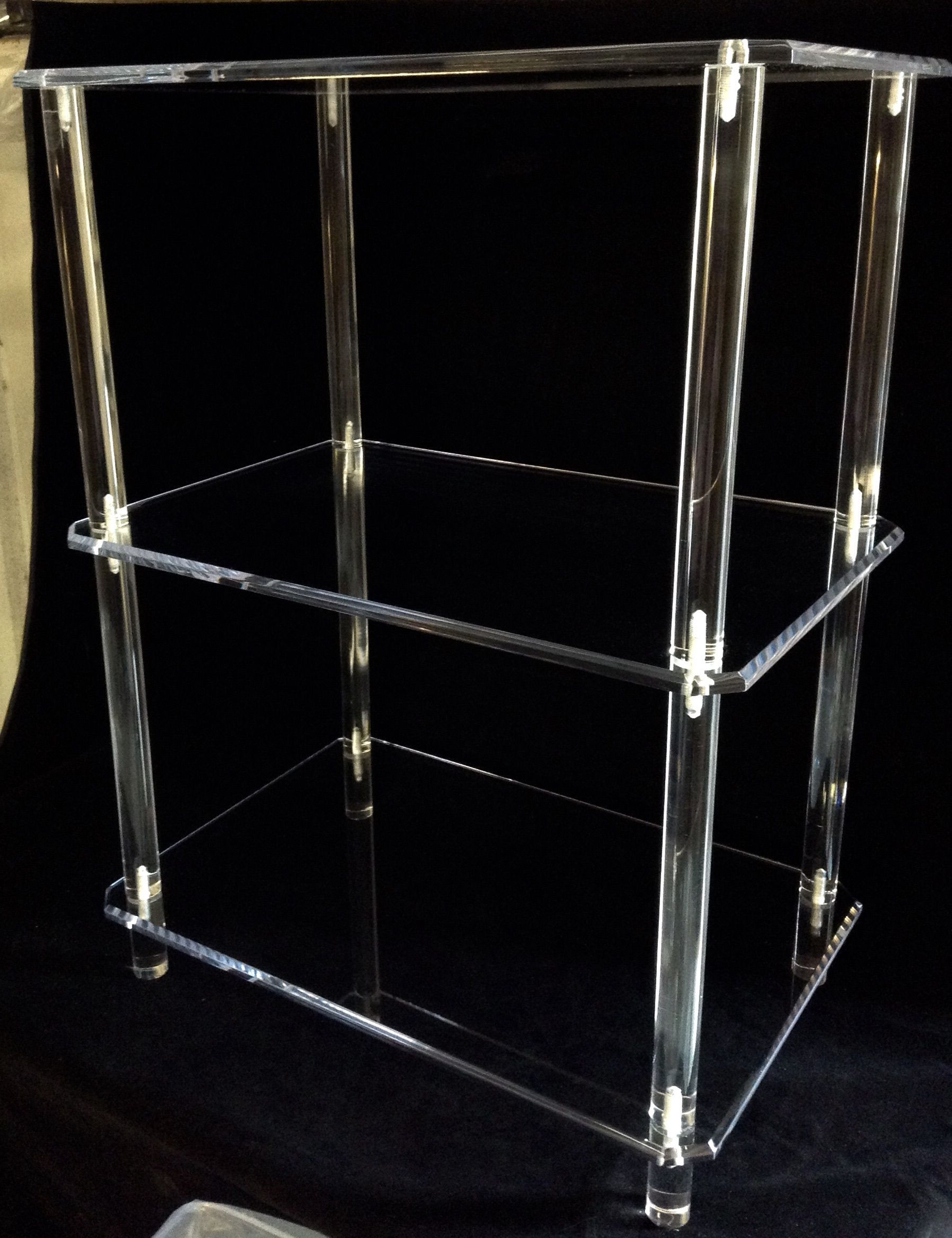 Most Recent Acrylic Tv Stands Throughout Clear Acrylic Tv Stand/shelf (View 13 of 20)