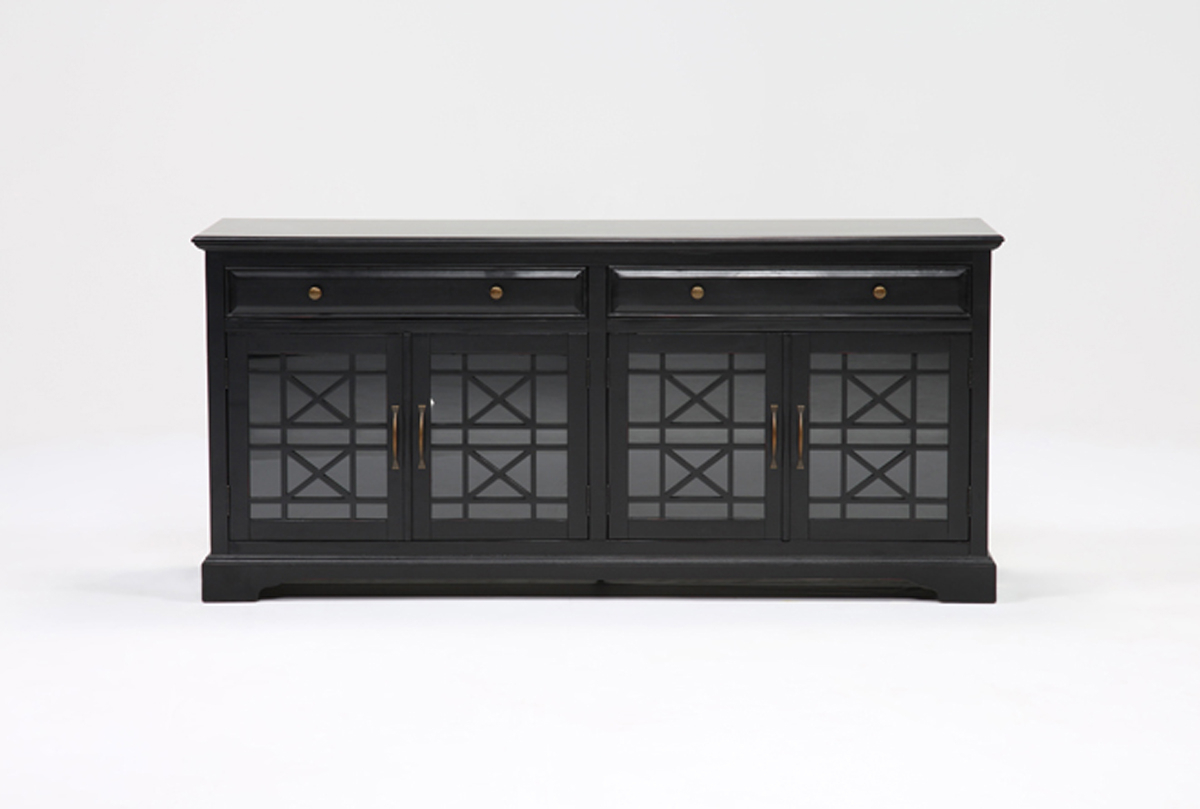 Most Recent Annabelle Black 70 Inch Tv Stands Intended For Annabelle Black 70 Inch Tv Stand (View 13 of 20)