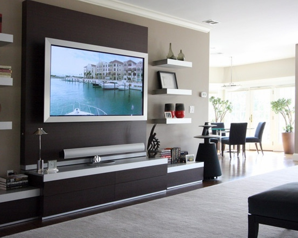 Most Recent Attractive Wall Mount Tv Stand With Modern Tv Stands With Mount (View 8 of 20)