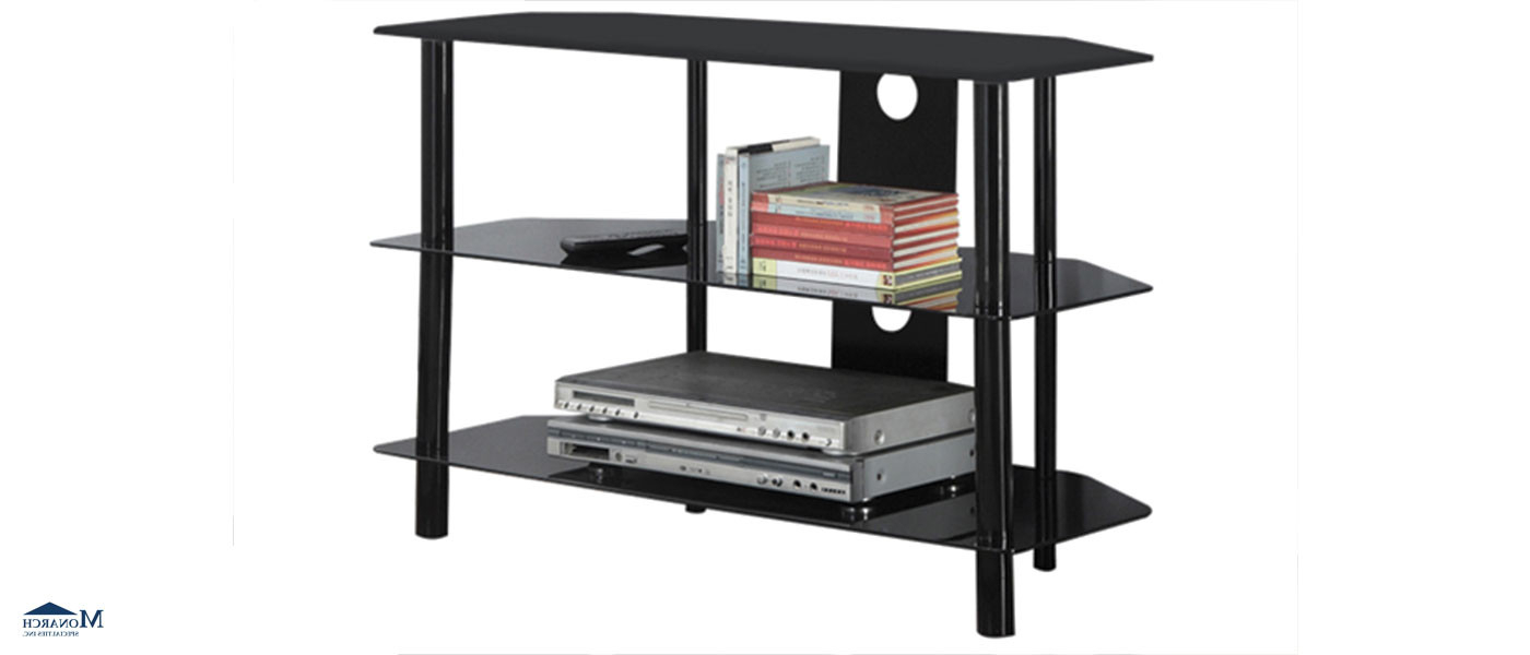Most Recent Black Metal And Glass Tv Stand Thunder Bay (View 12 of 20)