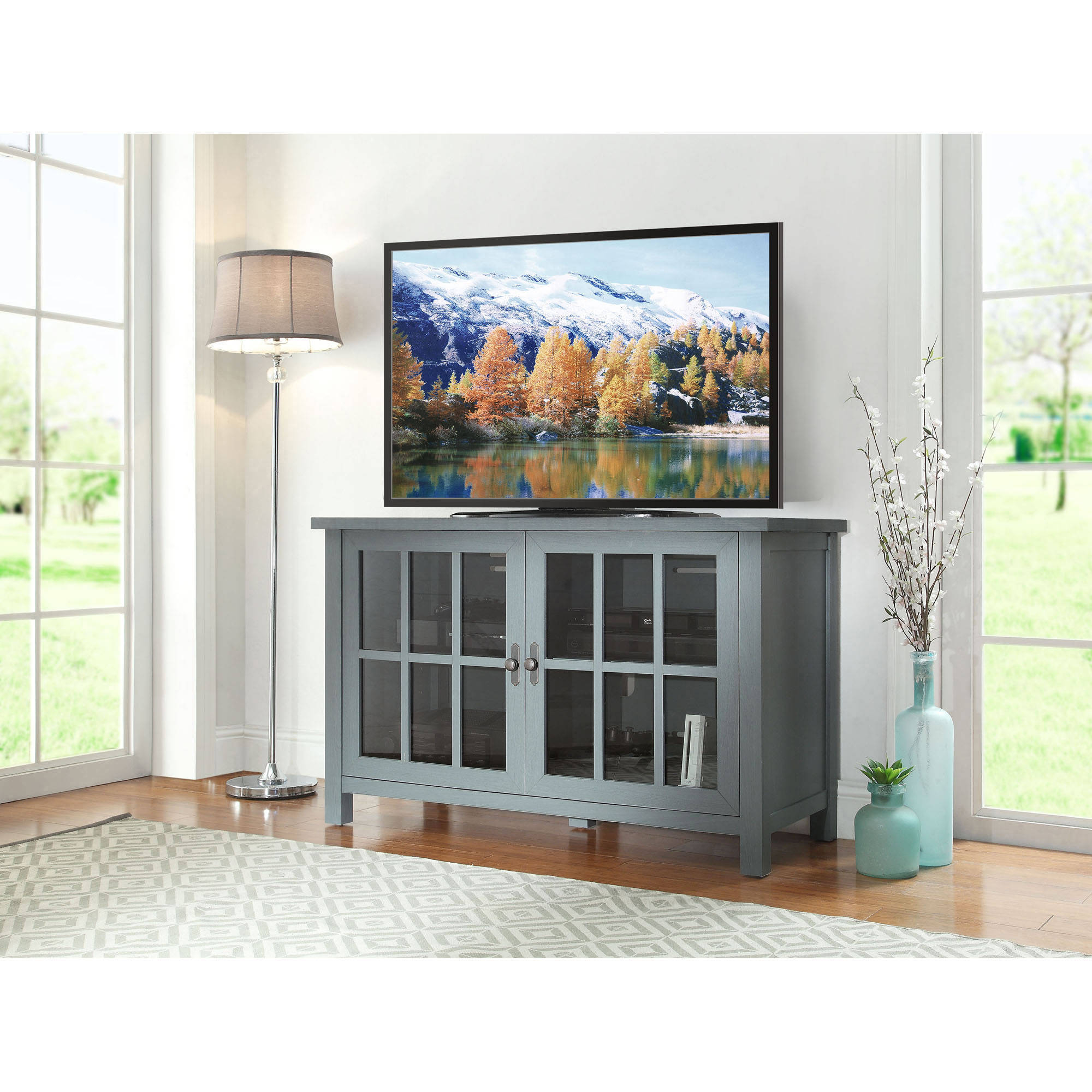 Most Recent Blue Tv Stands Throughout Bello Cottonwood 54 In (View 11 of 20)