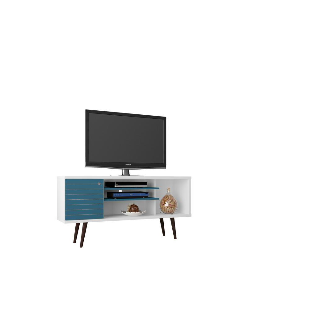 Most Recent Blue Tv Stands With Regard To Walker Edison Furniture Company – Entertainment Center – White – Tv (View 12 of 20)