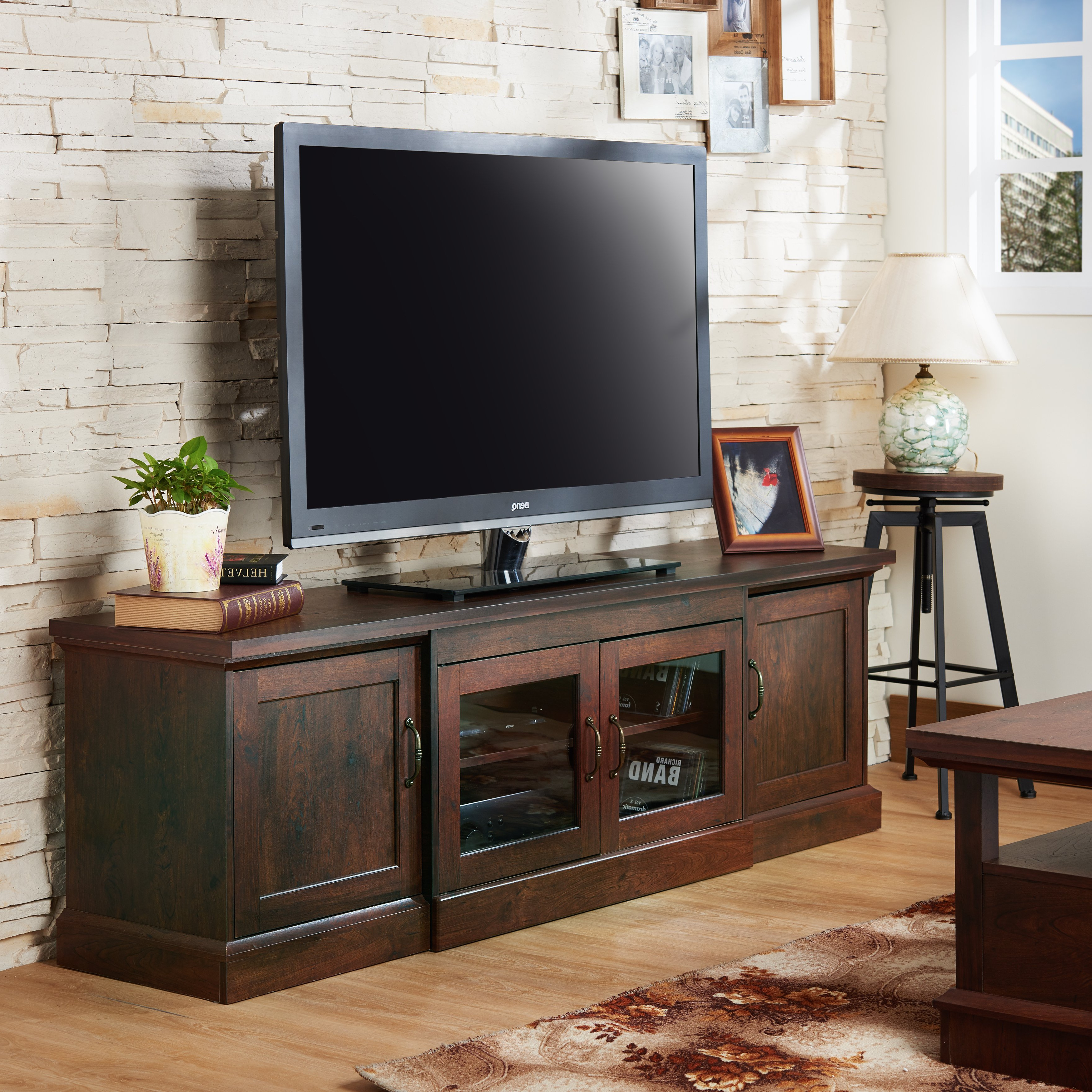 Most Recent Casey Umber 74 Inch Tv Stands With Regard To Shop Walder Rustic 68 Inch Tv Standfoa – On Sale – Free Shipping (View 14 of 20)