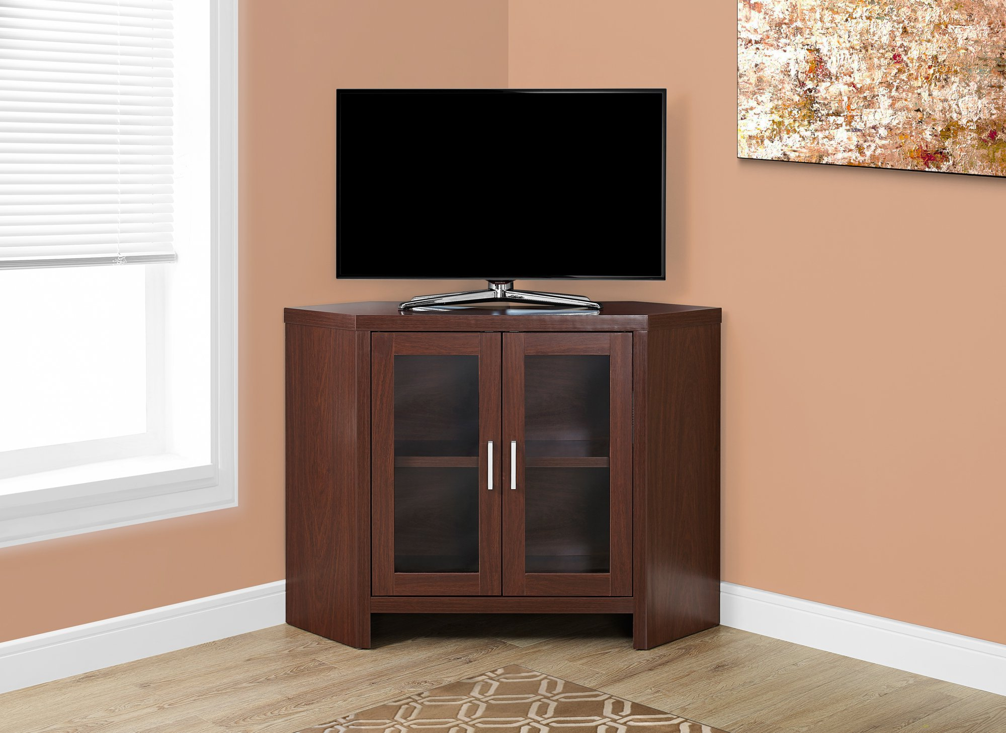 Most Recent Cheap Corner Tv Stand Glass Doors, Find Corner Tv Stand Glass Doors Throughout Corner Tv Cabinets With Glass Doors (Gallery 13 of 20)