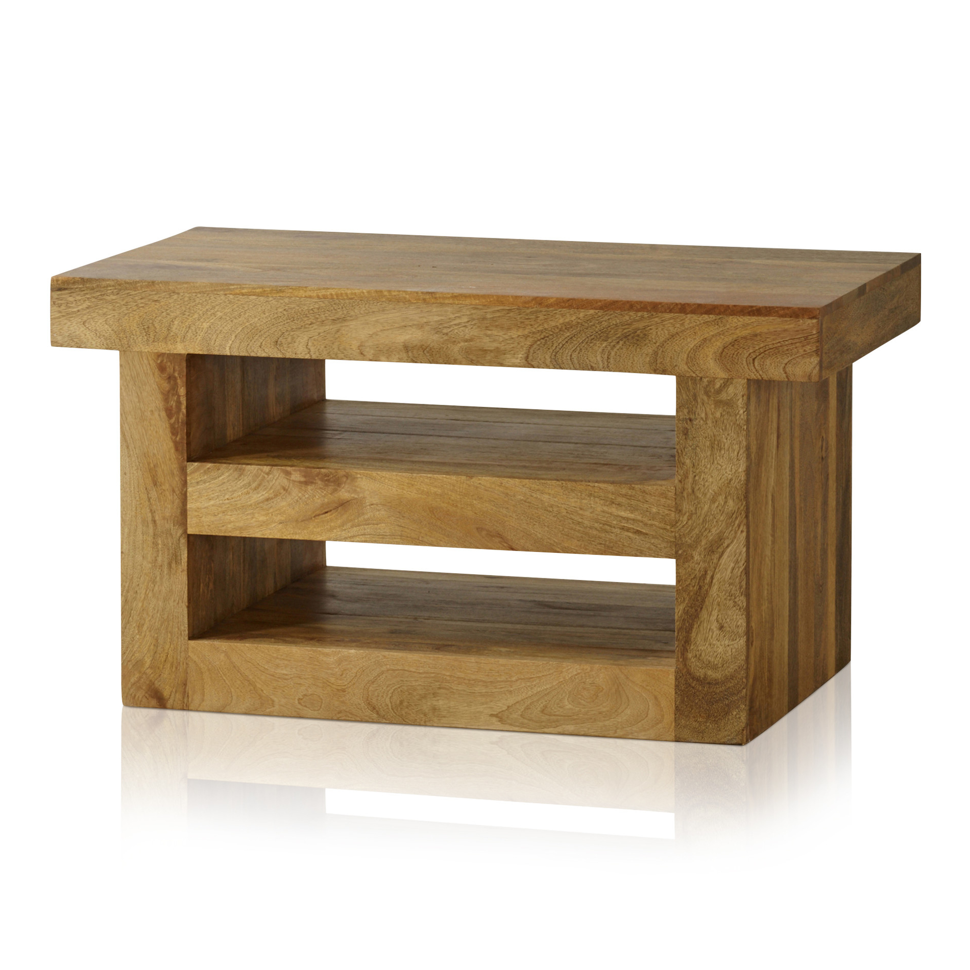 Most Recent Chunky Oak Tv Units Regarding Mantis Light Natural Solid Mango Tv + Dvd Stand (View 14 of 20)