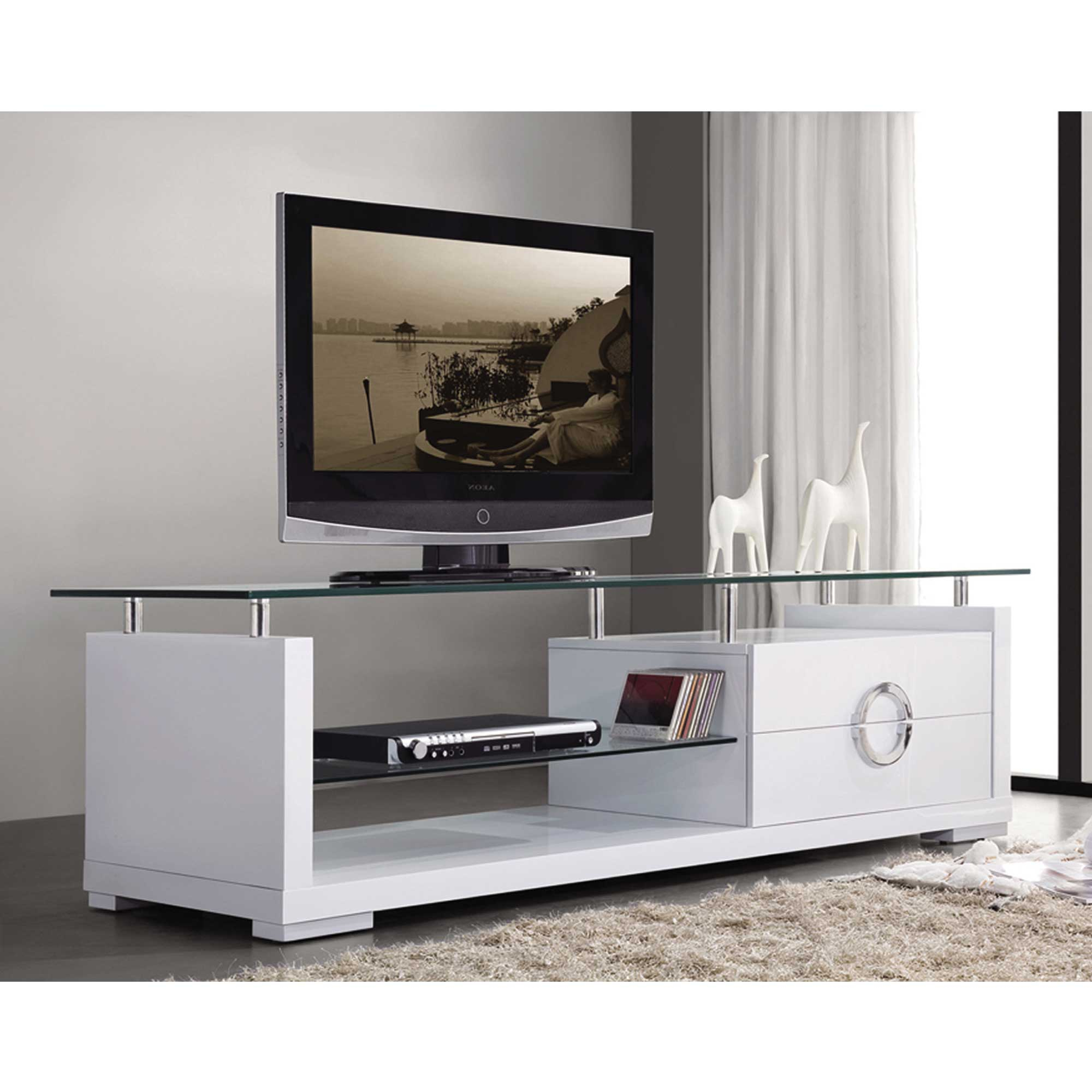 Most Recent Contemporary Tv Stand – Home Deco For White Contemporary Tv Stands (View 10 of 20)