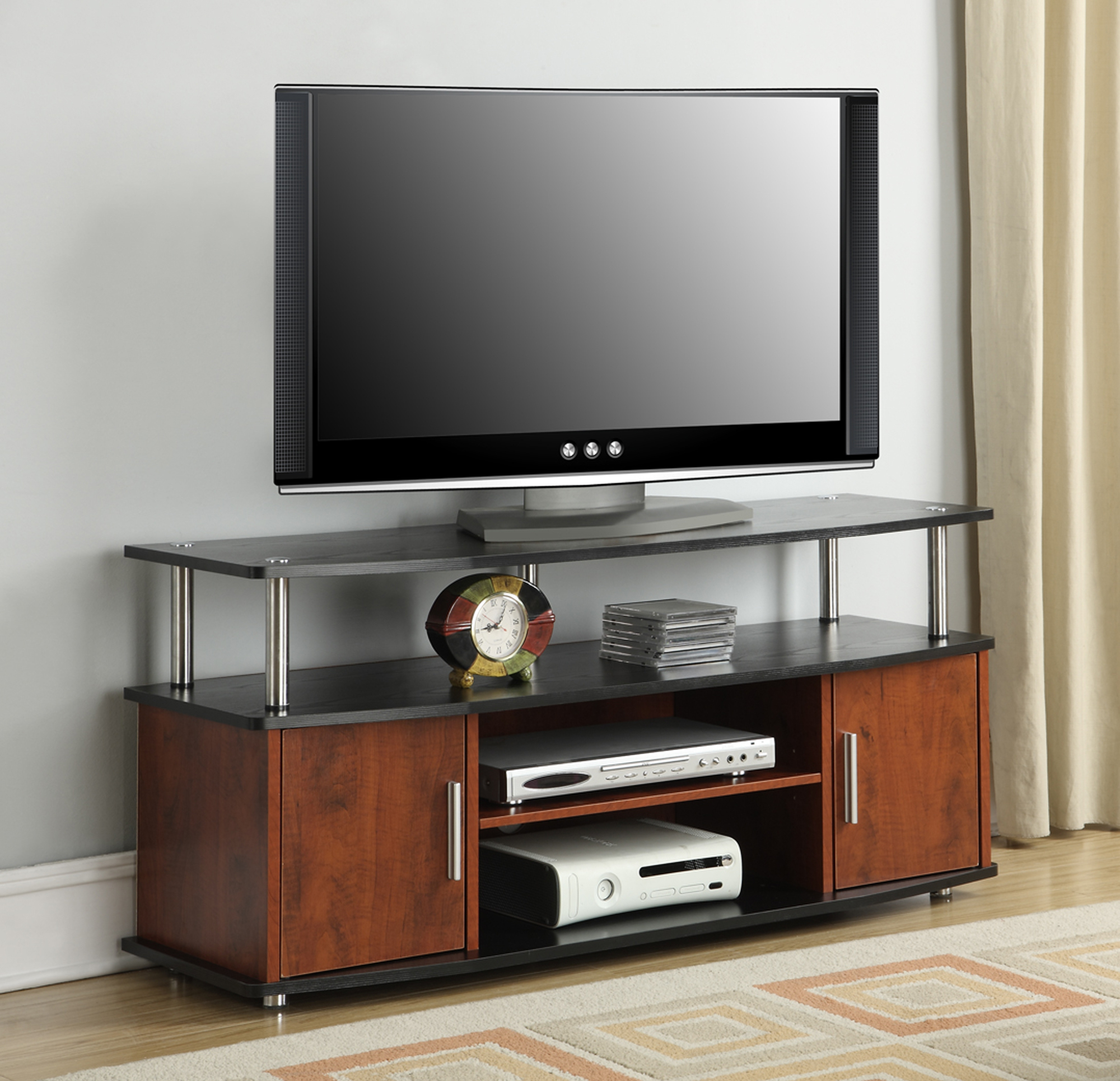 Most Recent Convenience Concepts Designs2Go Black/cherry Monterey Tv Stand For With Regard To Fancy Tv Stands (View 13 of 20)