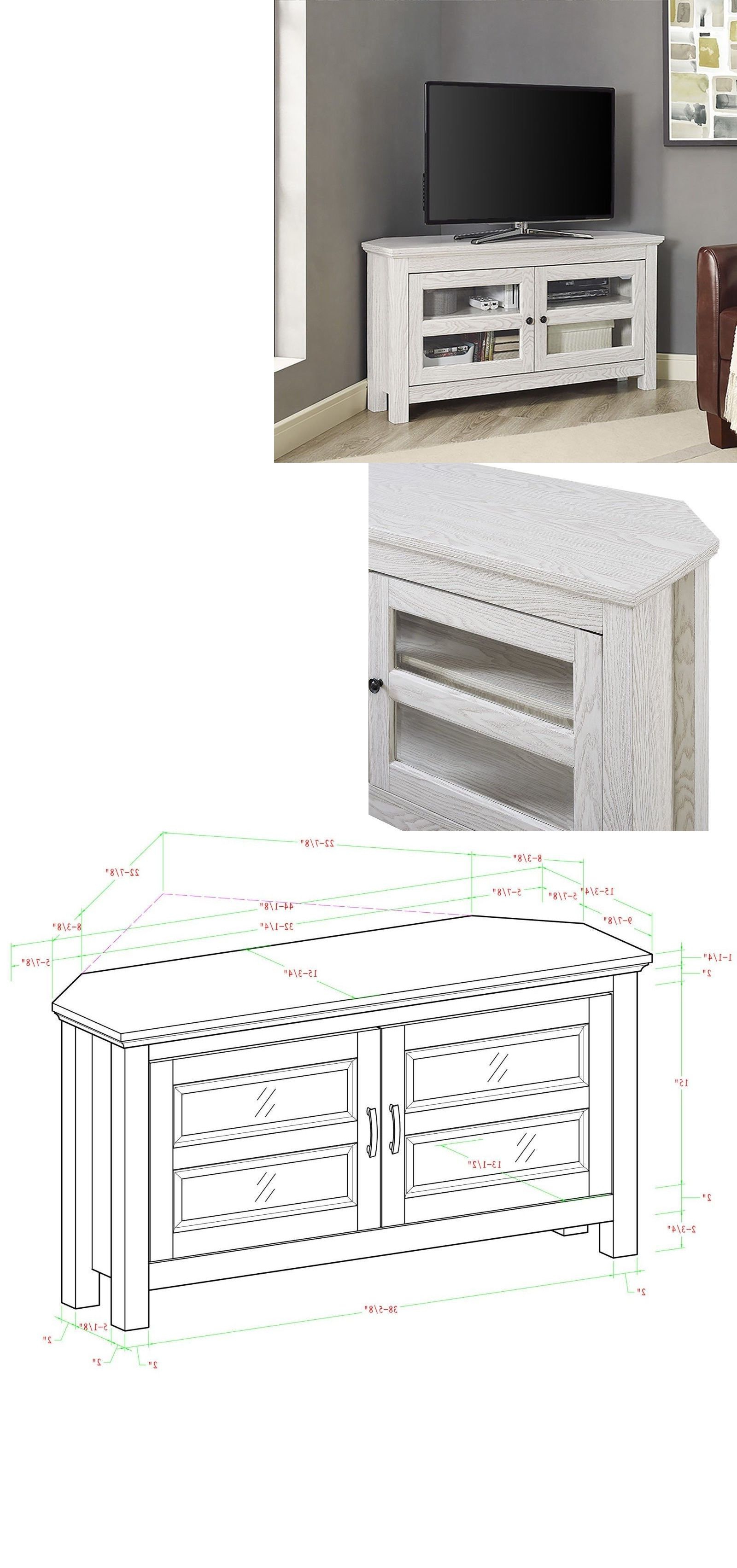 Most Recent Cordoba Tv Stands Intended For We Furniture 44 Cordoba Corner Tv Stand Console Espresso (View 16 of 20)