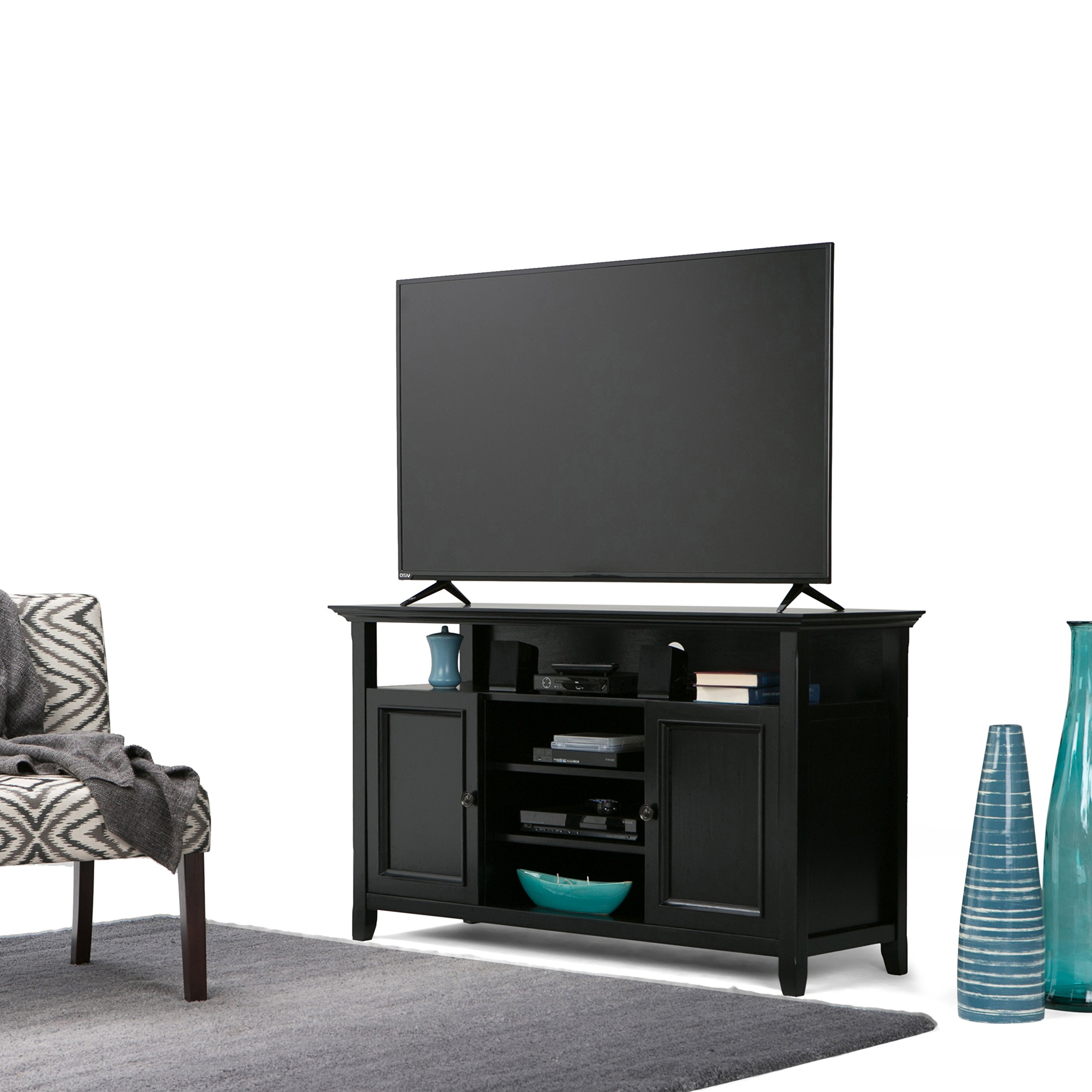 Most Recent Draper 62 Inch Tv Stands Regarding Amazon: Simpli Home: Tv Stands (View 11 of 20)