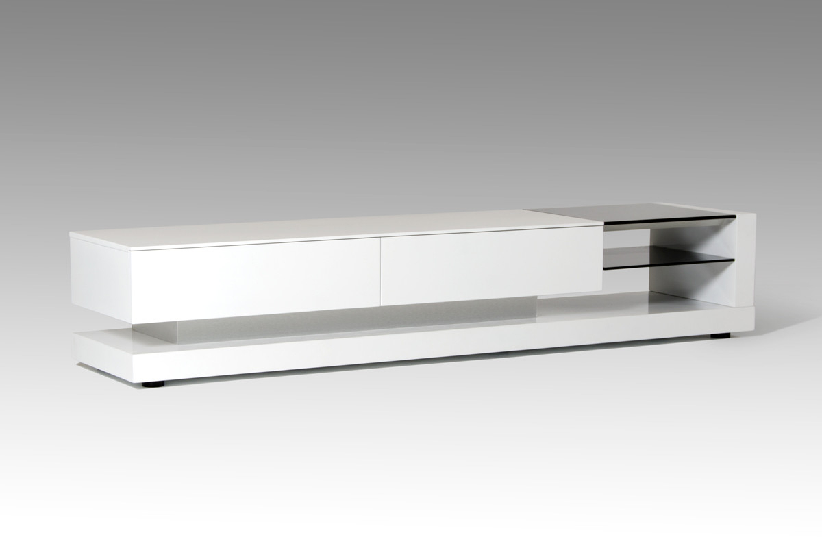 Most Recent Gloss White Tv Cabinets Intended For Modrest Mali Modern White Tv Stand (View 7 of 20)