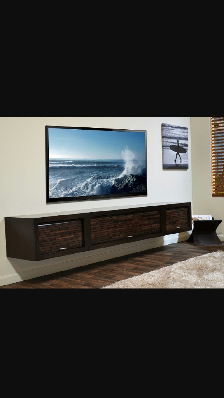 Most Recent Huge Floating Shelf. Fits Great With 80 Inch Tv (View 3 of 20)