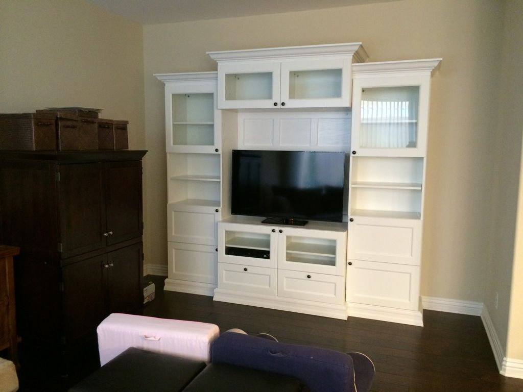 "Most Recent Ikea Built In Tv Cabinets With Combine Ikea Bookcases For An Inexpensive Mud Room ""built In (Gallery 13 of 20)"