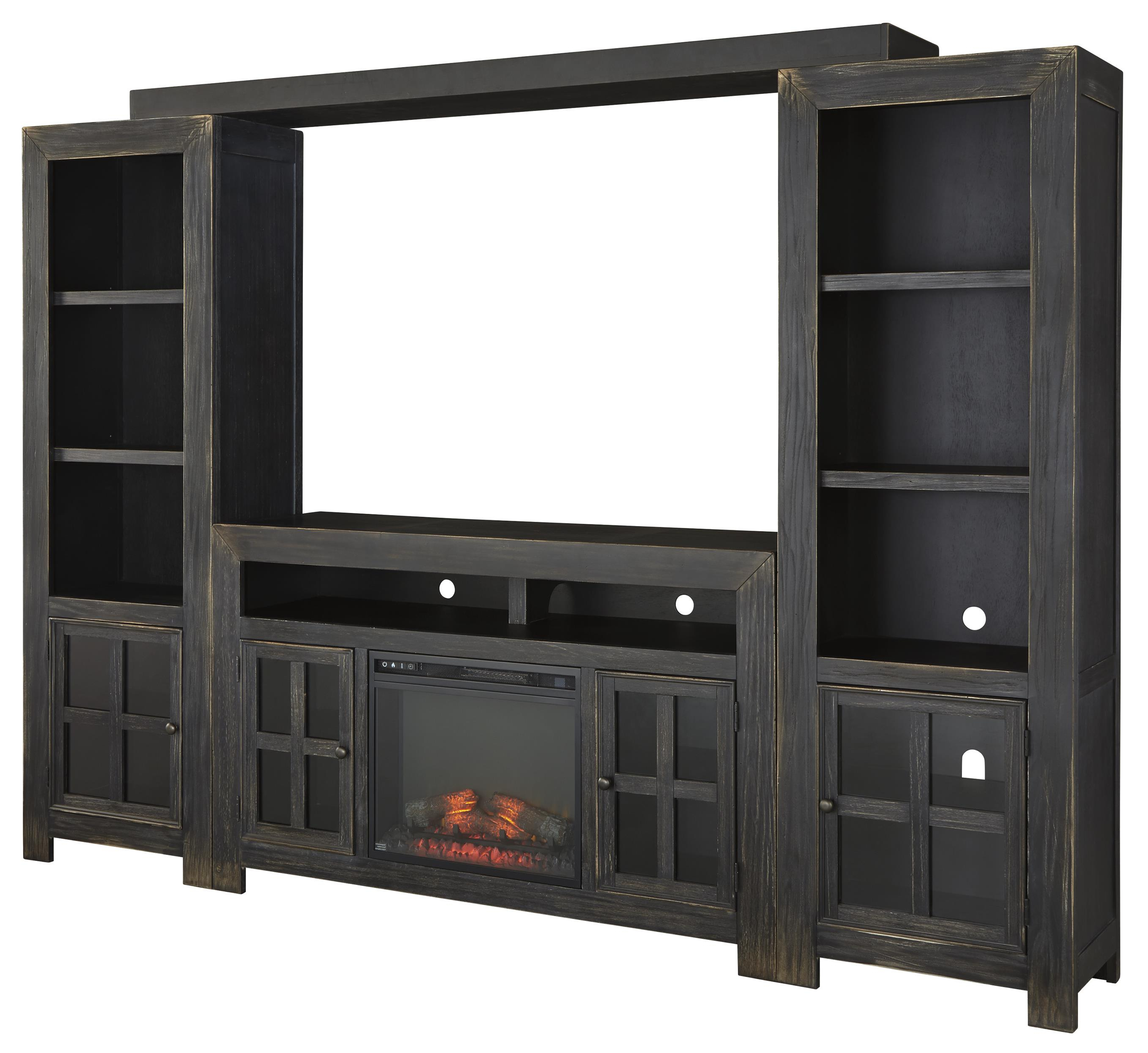 Most Recent Large Black Tv Unit Pertaining To Ashley Signature Design Gavelston Entertainment Wall Unit W/ Large (View 3 of 20)