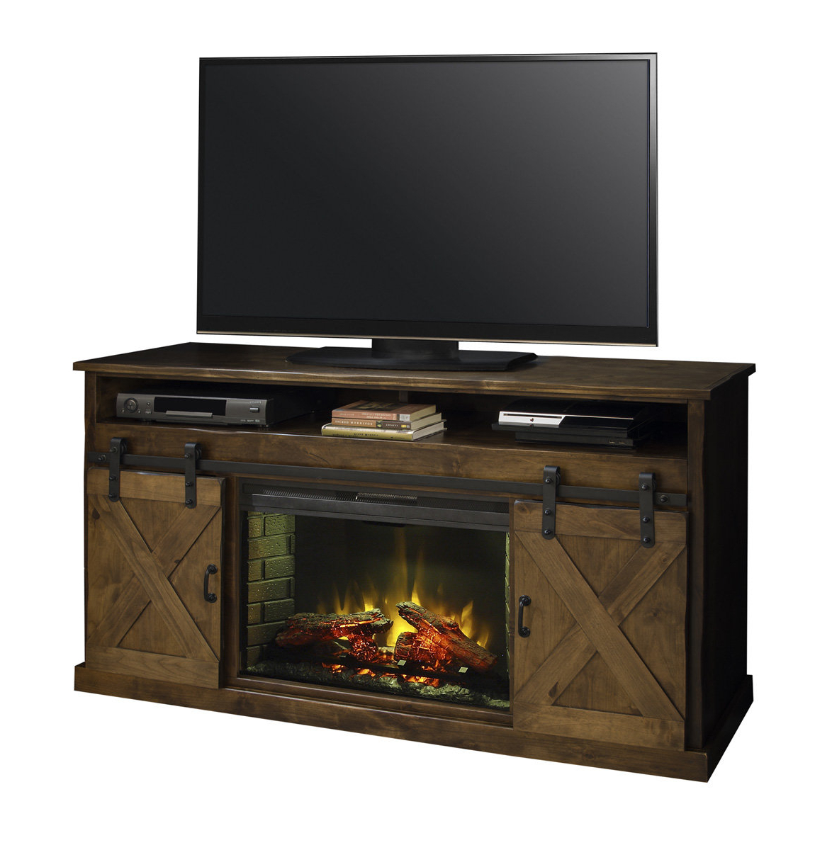 "Most Recent Loon Peak Pullman Tv Stand For Tvs Up To 65"" With Electric Fireplace In Vista 60 Inch Tv Stands (Gallery 11 of 20)"