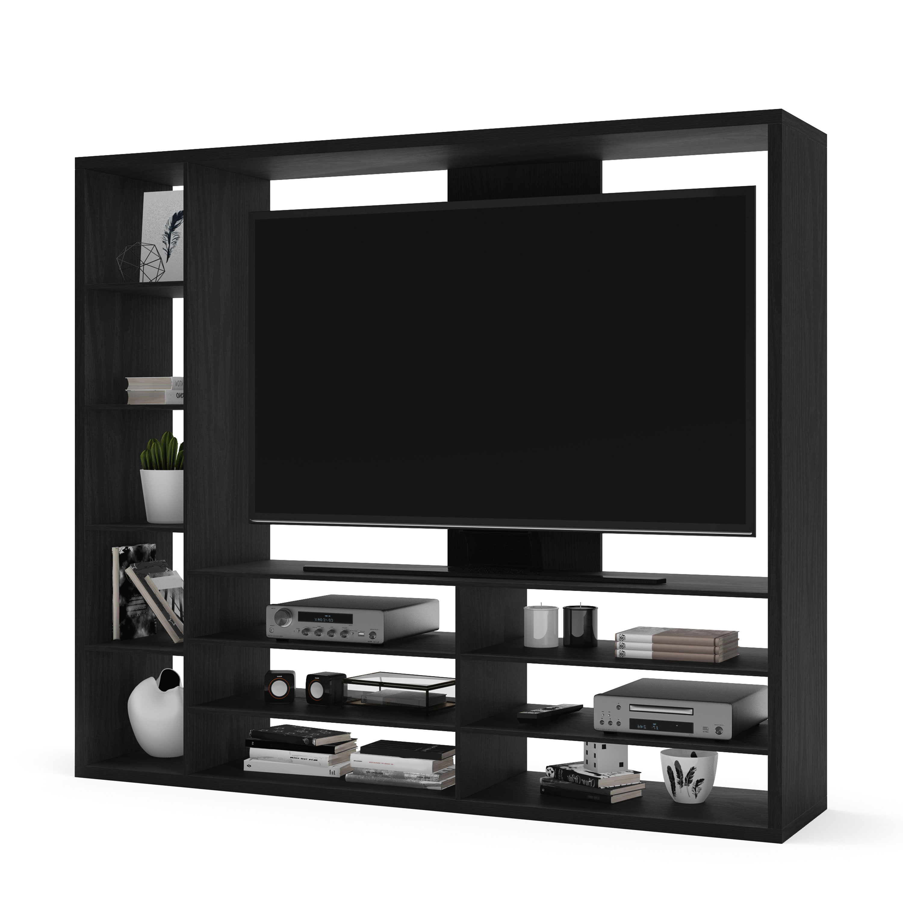 "Most Recent Mainstays Entertainment Center For Tvs Up To 55"", Ideal Tv Stand For In Canyon 64 Inch Tv Stands (View 19 of 20)"
