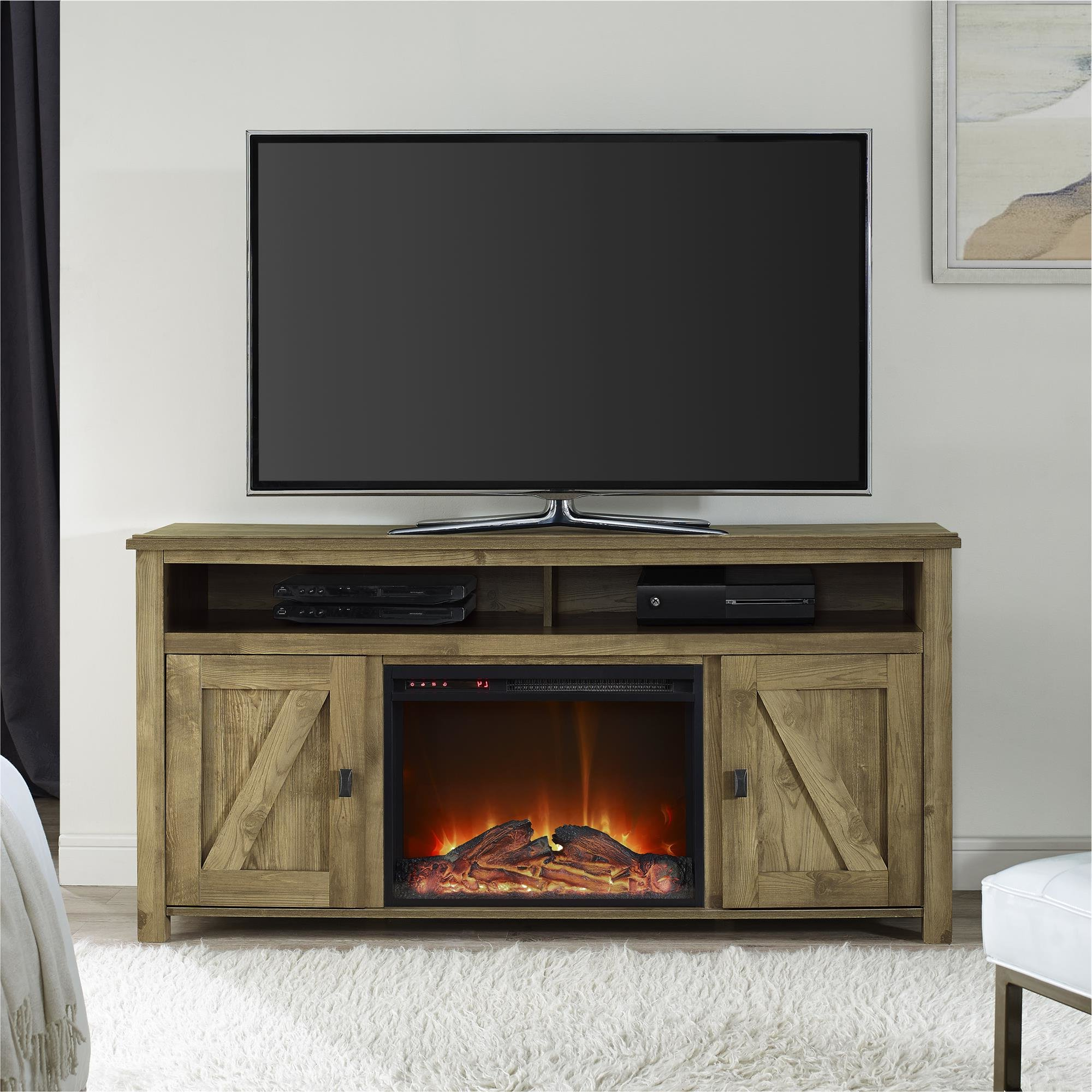 """Most Recent Mistana Whittier Tv Stand For Tvs Up To 60"""" With Fireplace & Reviews For Dixon White 65 Inch Tv Stands (Gallery 7 of 20)"""