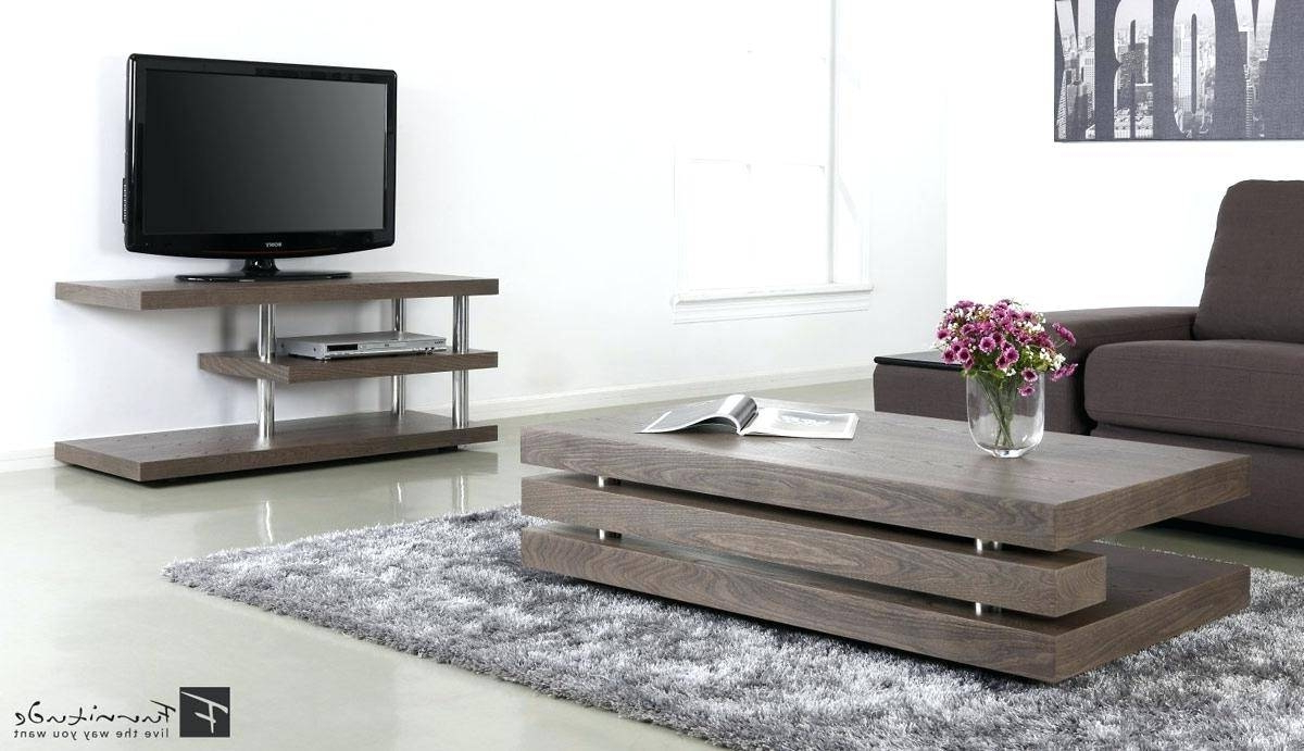 Most Recent Modern Tv Stand And Coffee Table Set (Gallery 4 of 20)