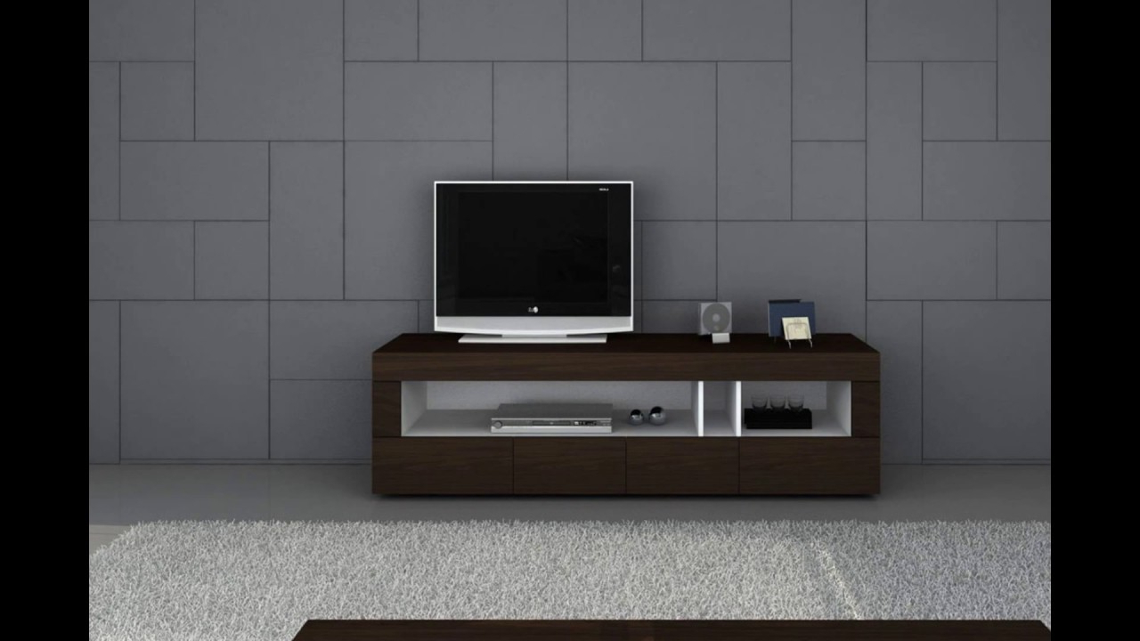 Most Recent Modern Tv Stands For Flat Screens Pertaining To Furniture   Modern Tv Stands For Flat Screens – Youtube (View 12 of 20)