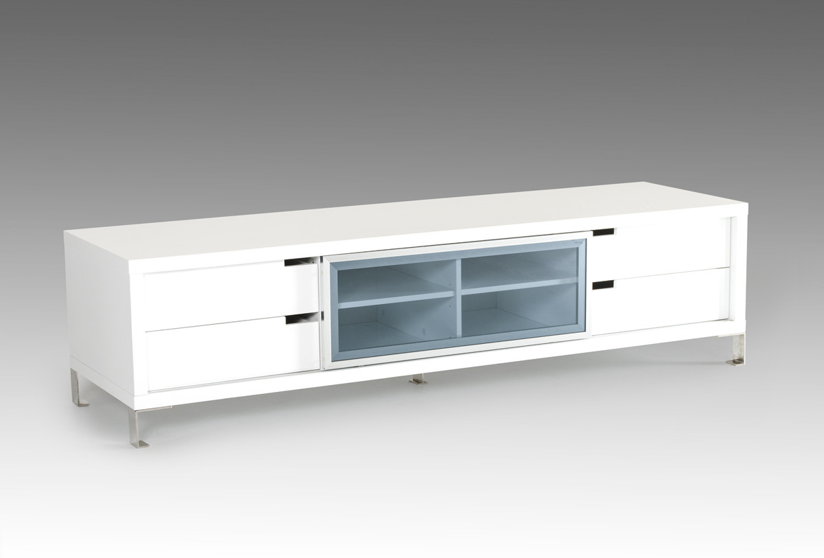 Most Recent Ovid White Tv Stands Within Modrest Edward Modern White Tv Stand White Glass Dining Table (View 18 of 20)
