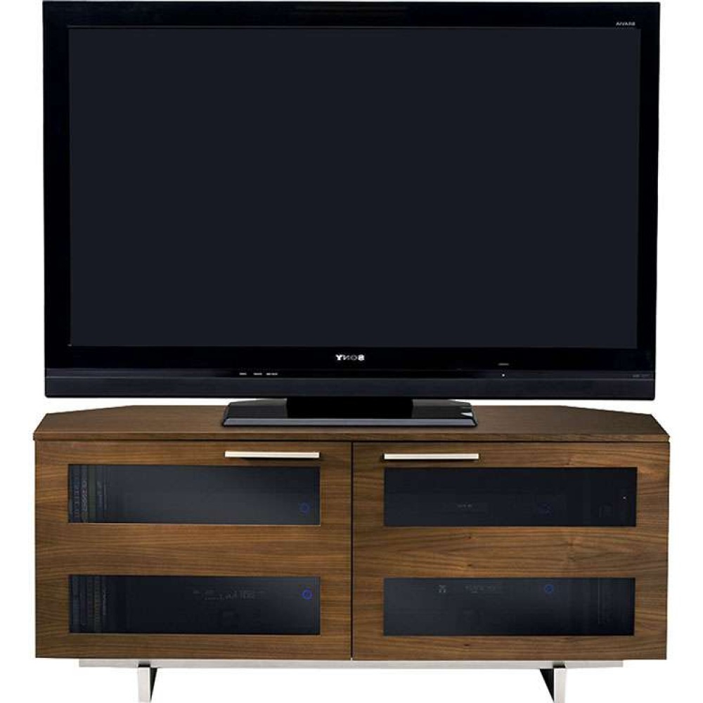 Most Recent Rustic Wooden Media Flat Panel Tv Stand Table Unit Throughout Walnut Corner Tv Stands (View 11 of 20)