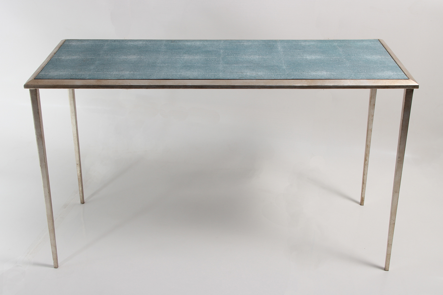 Most Recent Shagreen Console Table Wood : Console Table – Shagreen Console Table Intended For Grey Shagreen Media Console Tables (View 10 of 20)