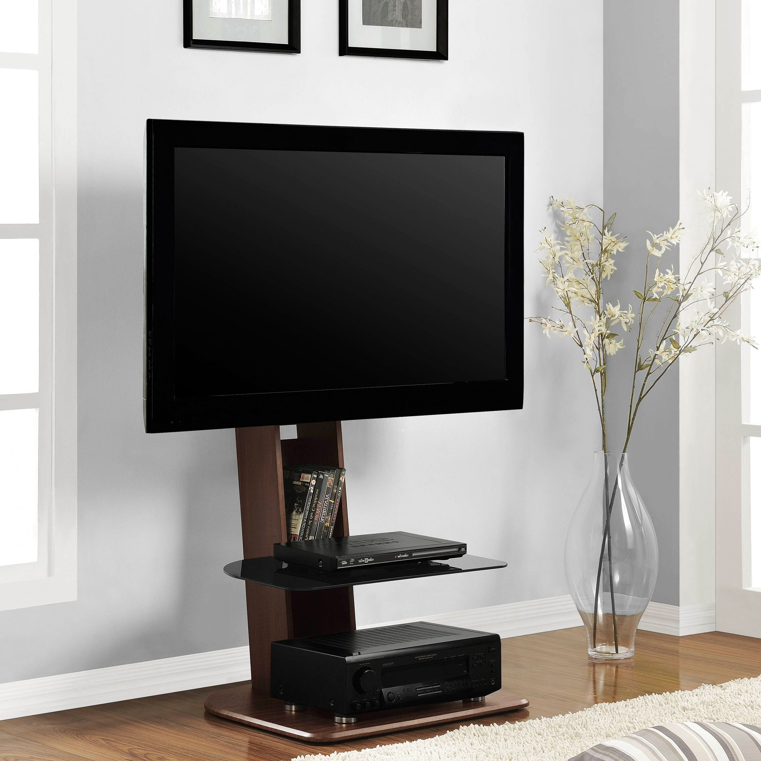 Most Recent Small Tv Stands Within Get The Skinny On This Space Saving Tv Stand Featuring A Streamlined (View 12 of 20)
