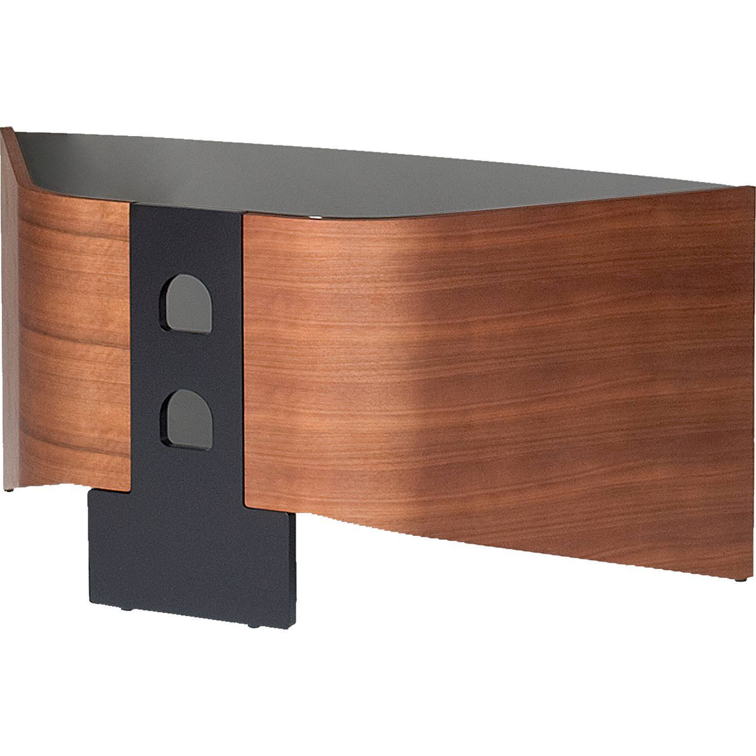 Most Recent Techlink Riva Tv Stands With Techlink Riva Rv100w Walnut With Black Glass Tv Stand For Up To (View 18 of 20)