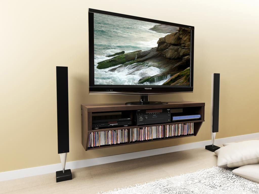 Most Recent Tv Stands For Small Spaces Regarding Floating Tv Stand For Small Space, Perfect! — Home Decor (View 6 of 20)