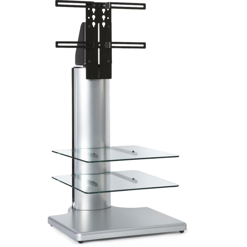 Most Recent Tv Stands With Bracket Intended For Silver Small Square Tv Stand Bracket Mount Display Unit (View 15 of 20)