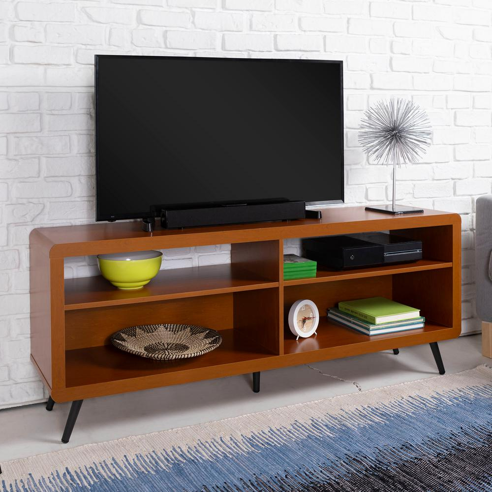 Most Recent Tv Stands With Rounded Corners With Walker Edison Furniture Company 58 In (View 5 of 20)