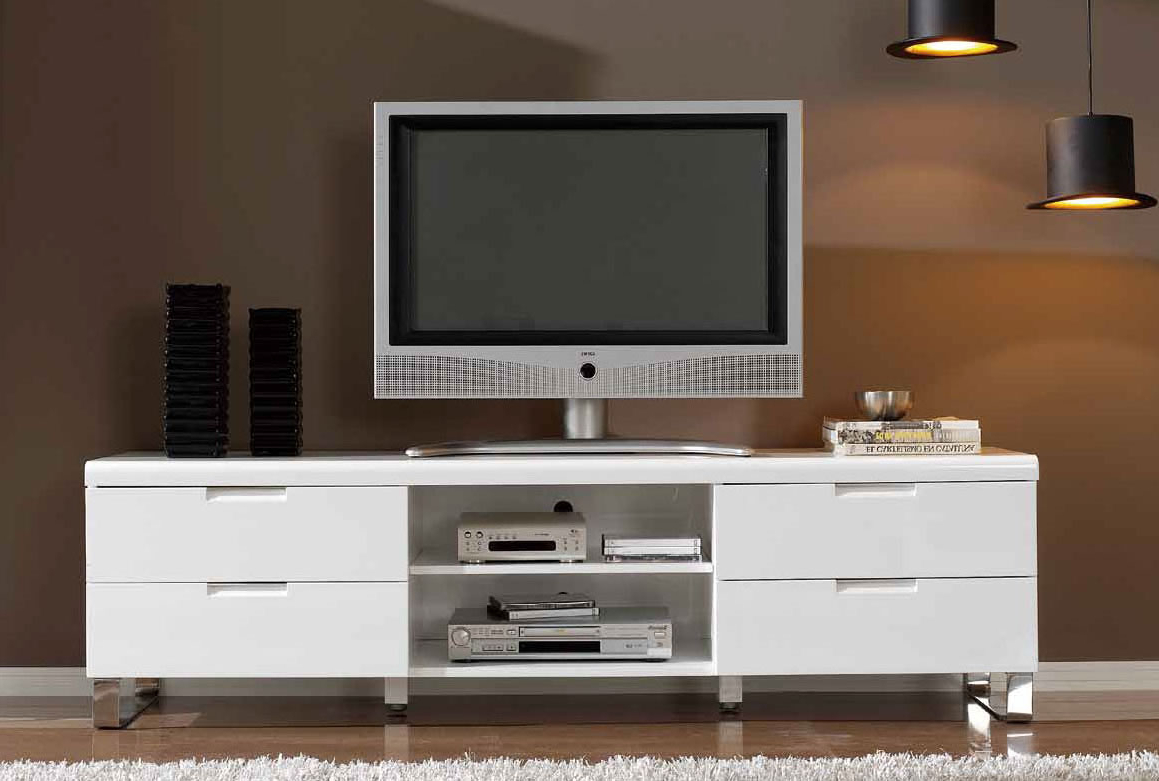 Most Recent White Tv Stands For Flat Screens With White Tv Cabinets For Flat Screens – Image Cabinets And Shower (Gallery 3 of 20)