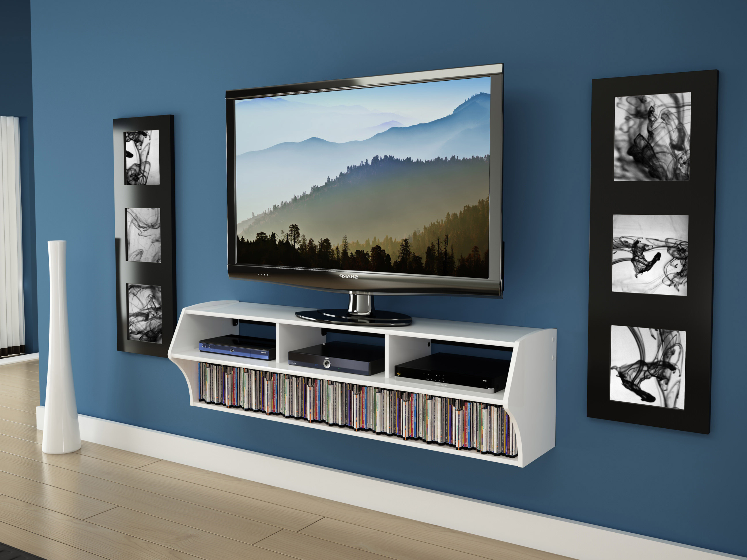 Most Recently Released Altus Plus 58 Inch Floating Tv Standprepac Throughout Century Blue 60 Inch Tv Stands (View 7 of 20)
