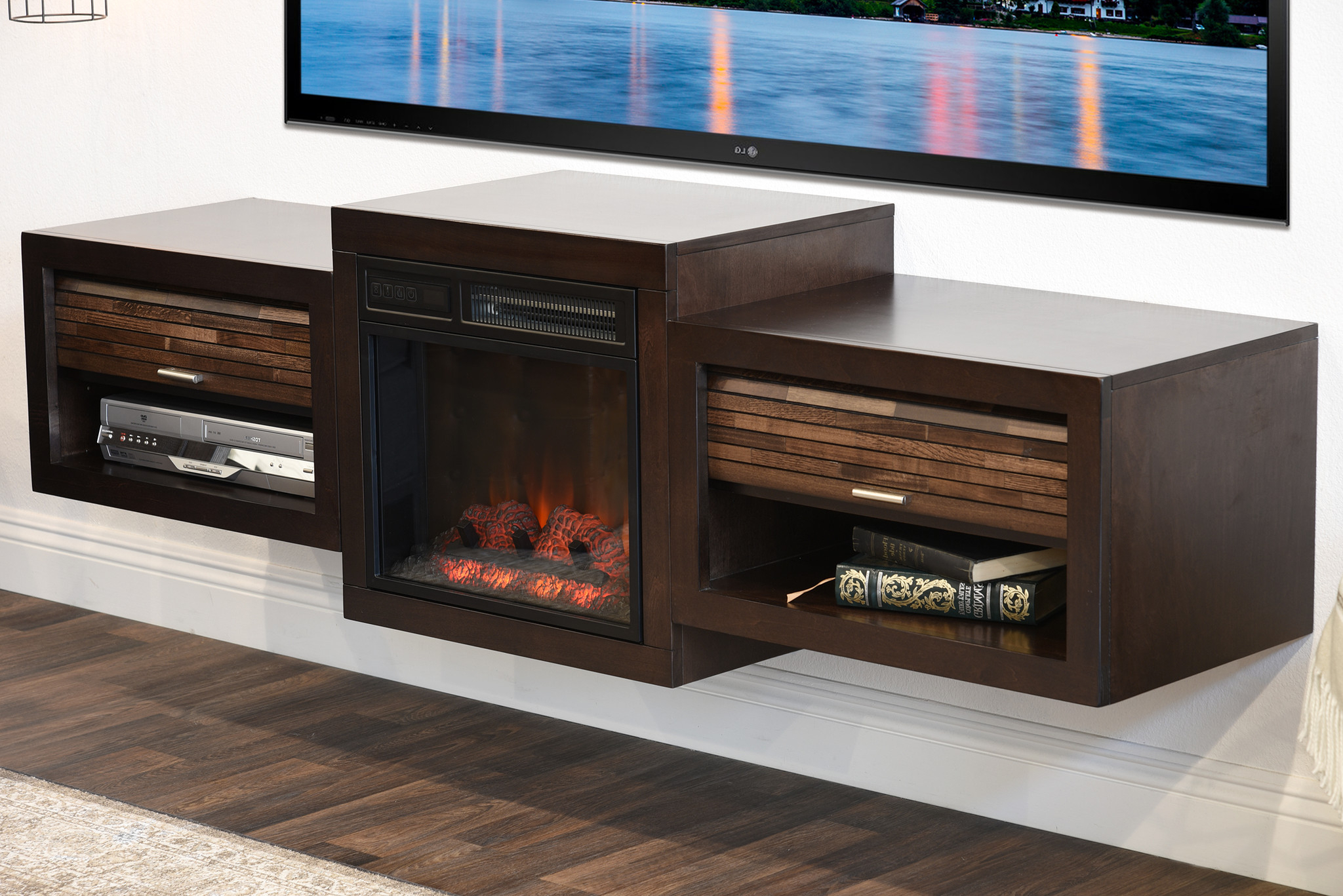 Most Recently Released Annabelle Black 70 Inch Tv Stands Within Splendid Tv Console Landmark Worn Oak Tv Stands At Hayneedle (View 15 of 20)