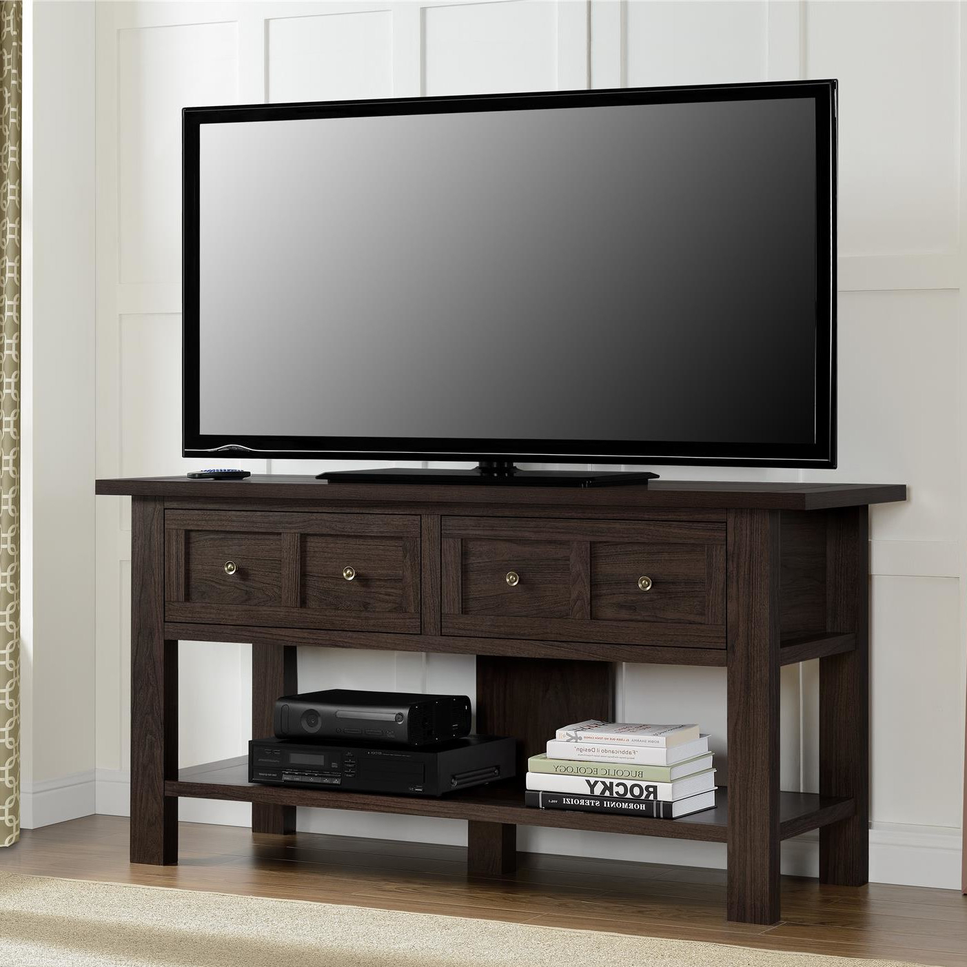 Most Recently Released August Grove Loanne Tv Stand Reviews Wayfair Glass And Wood Console Regarding Wayfair Corner Tv Stands (Gallery 18 of 20)