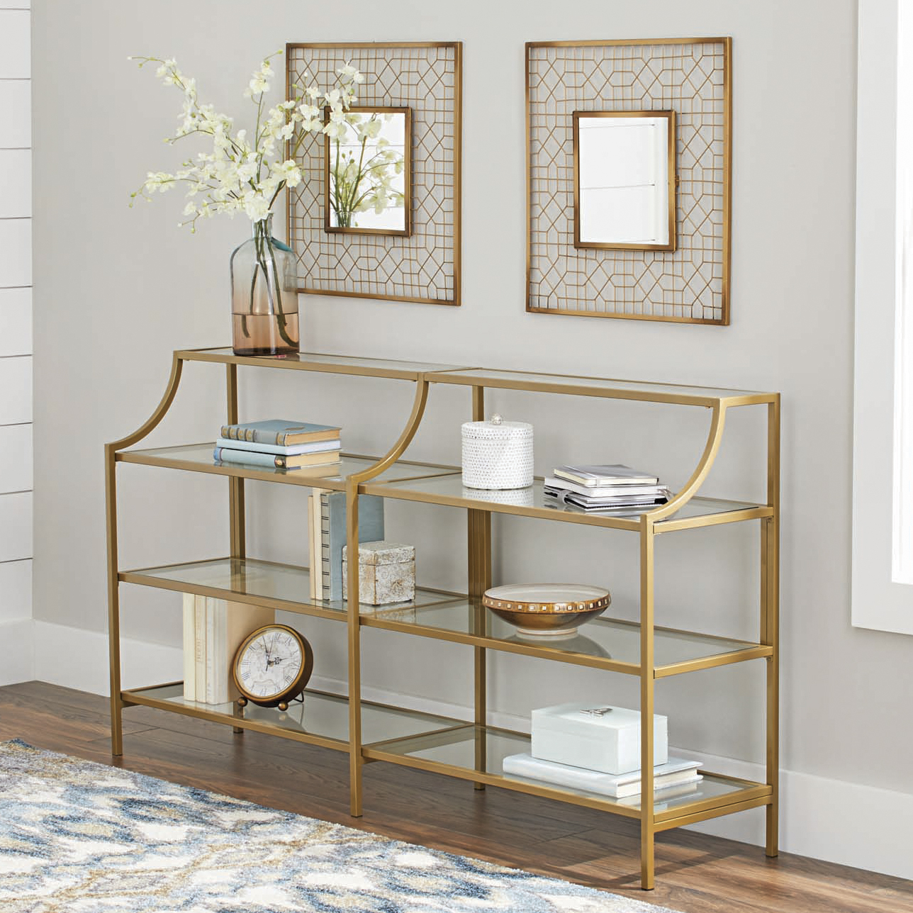 Most Recently Released Better Homes Gardens Nola Console Table, Gold Finish 689413782828 (Gallery 19 of 20)