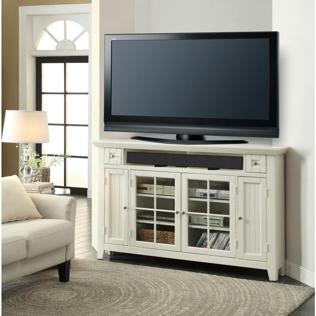 Most Recently Released Captivating White Mahogany Wood Corner Tv Stand Glass Four Door For Mahogany Corner Tv Stands (View 13 of 20)