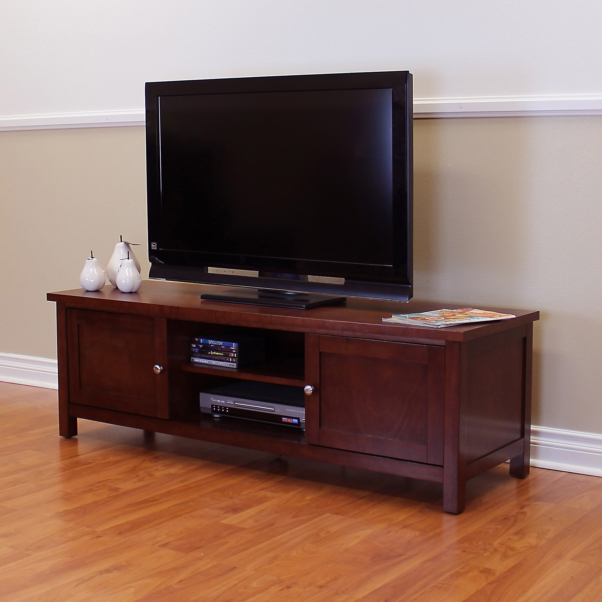 Most Recently Released Cherry Wood Tv Stands With Regard To Shop Oakdale Cherry Tv Stand – Free Shipping Today – Overstock (View 12 of 20)
