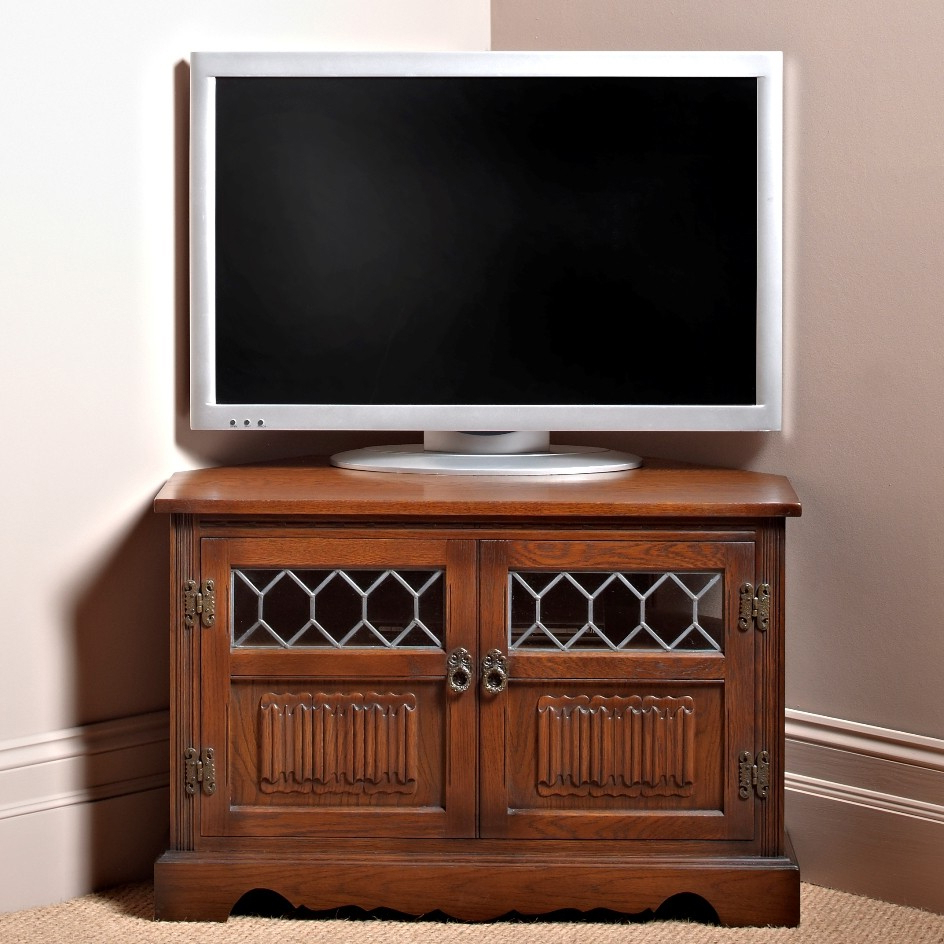 Most Recently Released Corner Tv Cabinets With Oc2264 Corner Tv/video Cabinet – Old Charm Furniture (View 12 of 20)