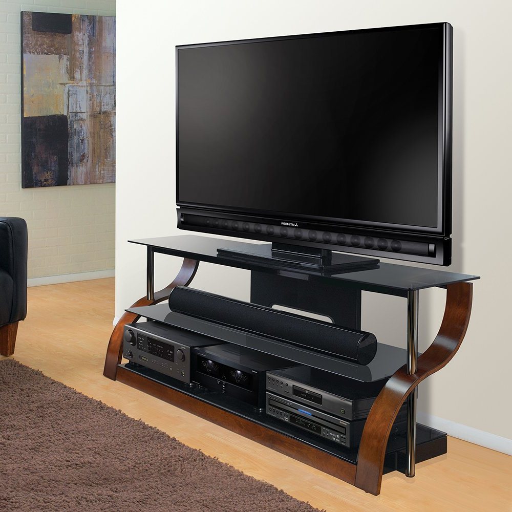 "Most Recently Released Curve Tv Stands In Amazon: Bell'o Cw342 65"" Tv Stand For Tvs Up To 73"", Espresso (View 13 of 20)"