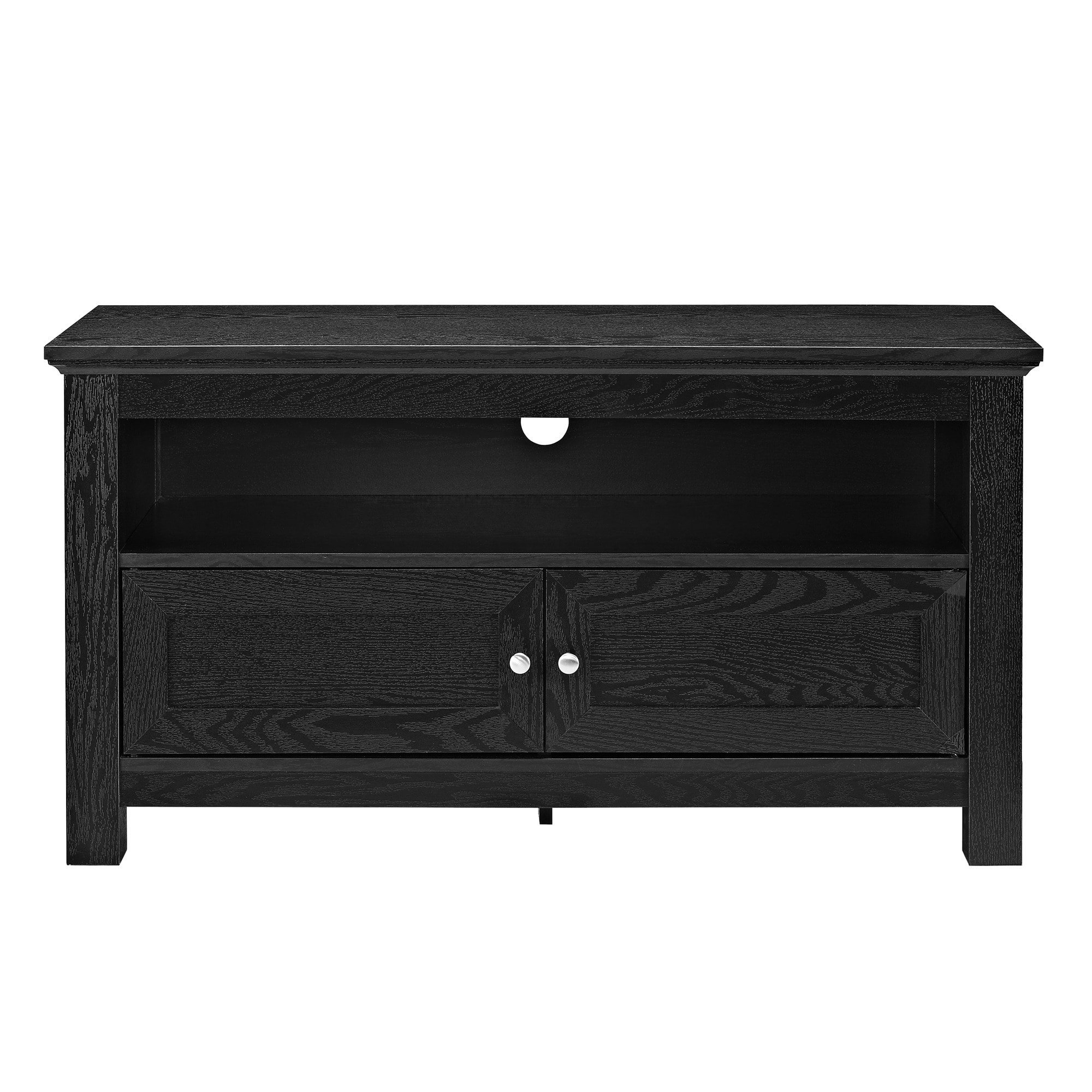 """Most Recently Released Dark Wood Tv Stands For Shop 44"""" Tv Stand Console – Black – 44 X 16 X 23H – Free Shipping (View 14 of 20)"""