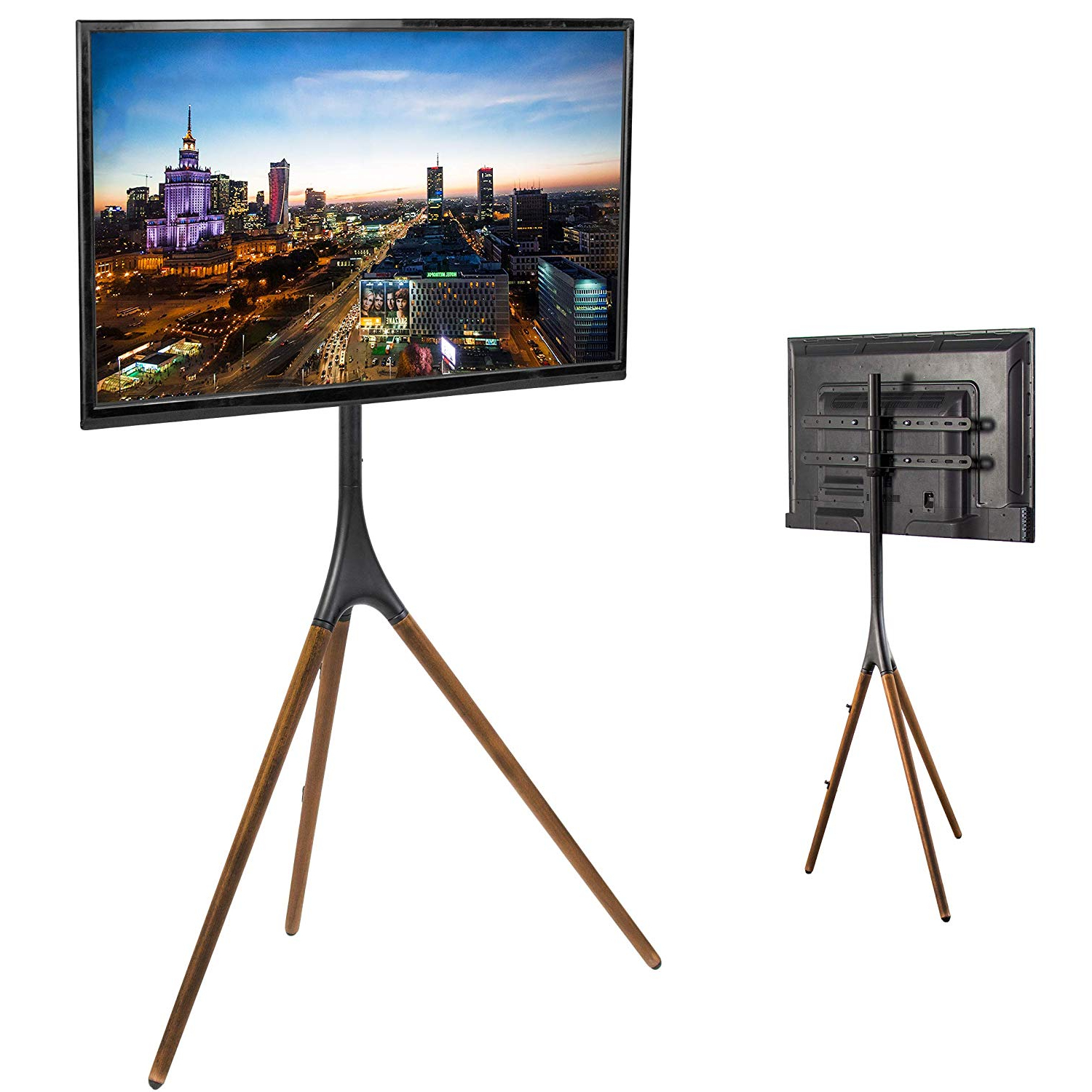 Most Recently Released Easel Tv Stands For Flat Screens Pertaining To Amazon: Vivo Artistic Easel Studio Tv Display Stand (View 13 of 20)