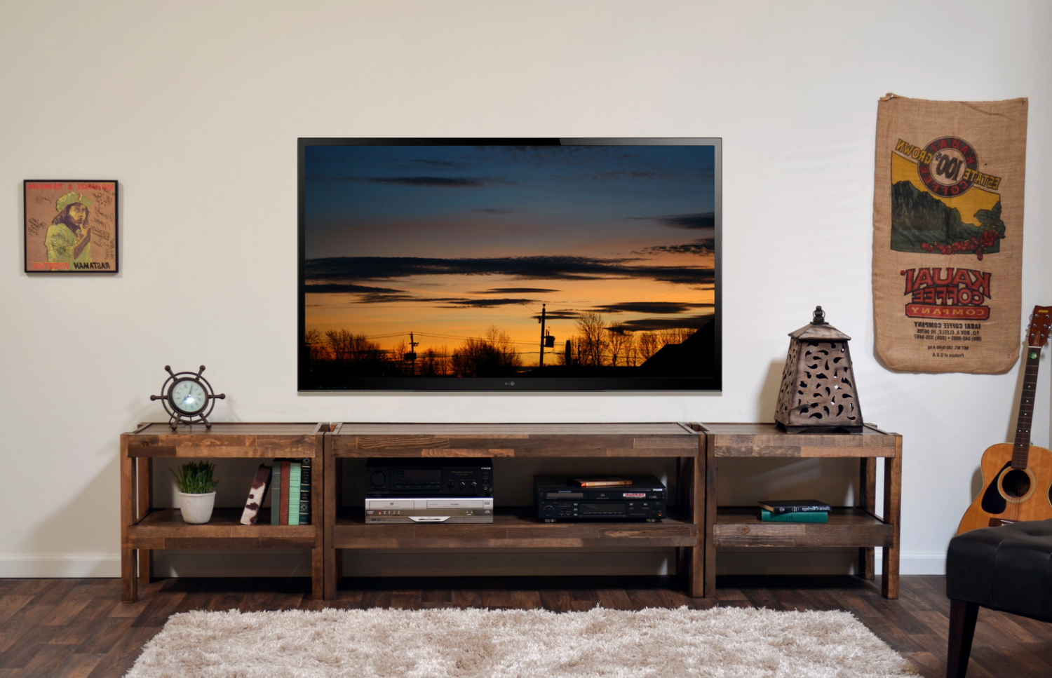 Most Recently Released Fireplace Tv Stand Reclaimed Wood Stands How To Build A For Flat Regarding Recycled Wood Tv Stands (View 5 of 20)