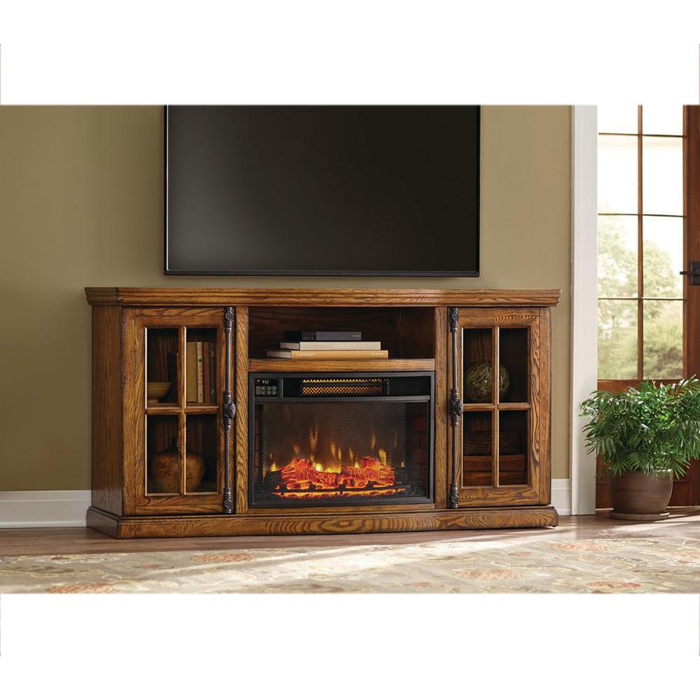 Most Recently Released Honey Oak Tv Stands Pertaining To Oak Tv Stands With Fireplace – Carolinacarconnections (View 11 of 20)
