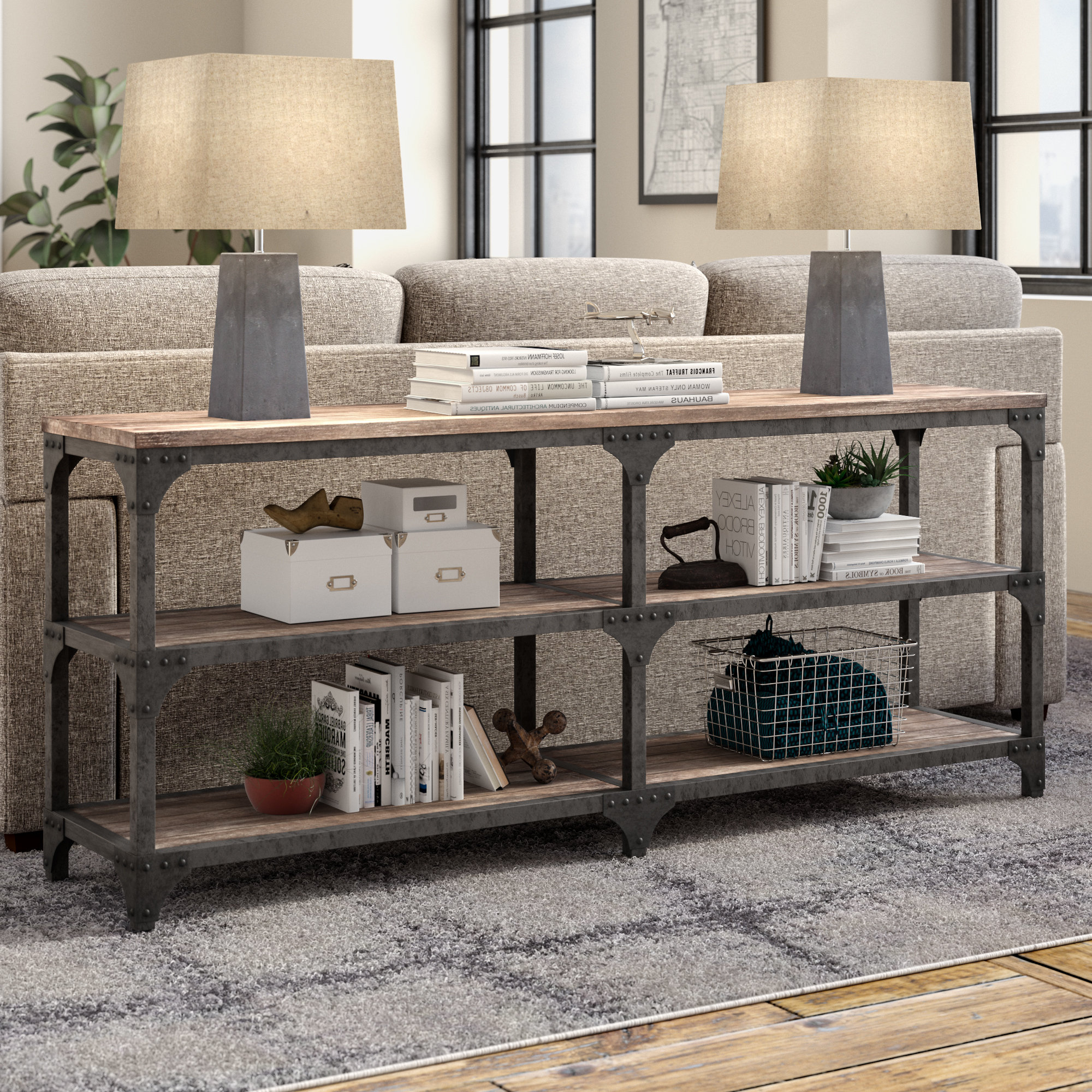 Most Recently Released Industrial Console Tables You'll Love (View 7 of 20)