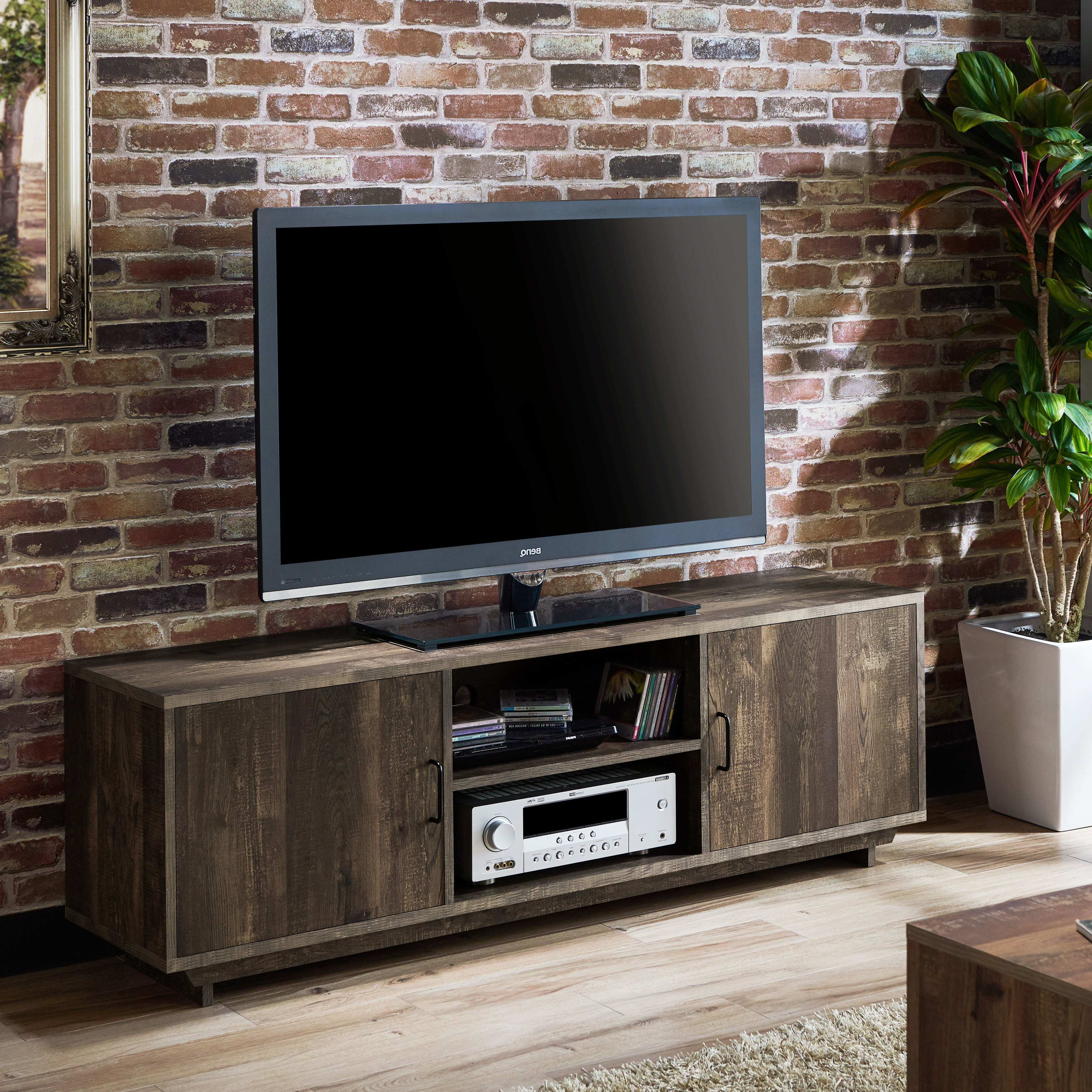 Most Recently Released Kai 63 Inch Tv Stands For Shop Furniture Of America Mailer Rustic Reclaimed Oak 63 Inch Tv (View 4 of 20)
