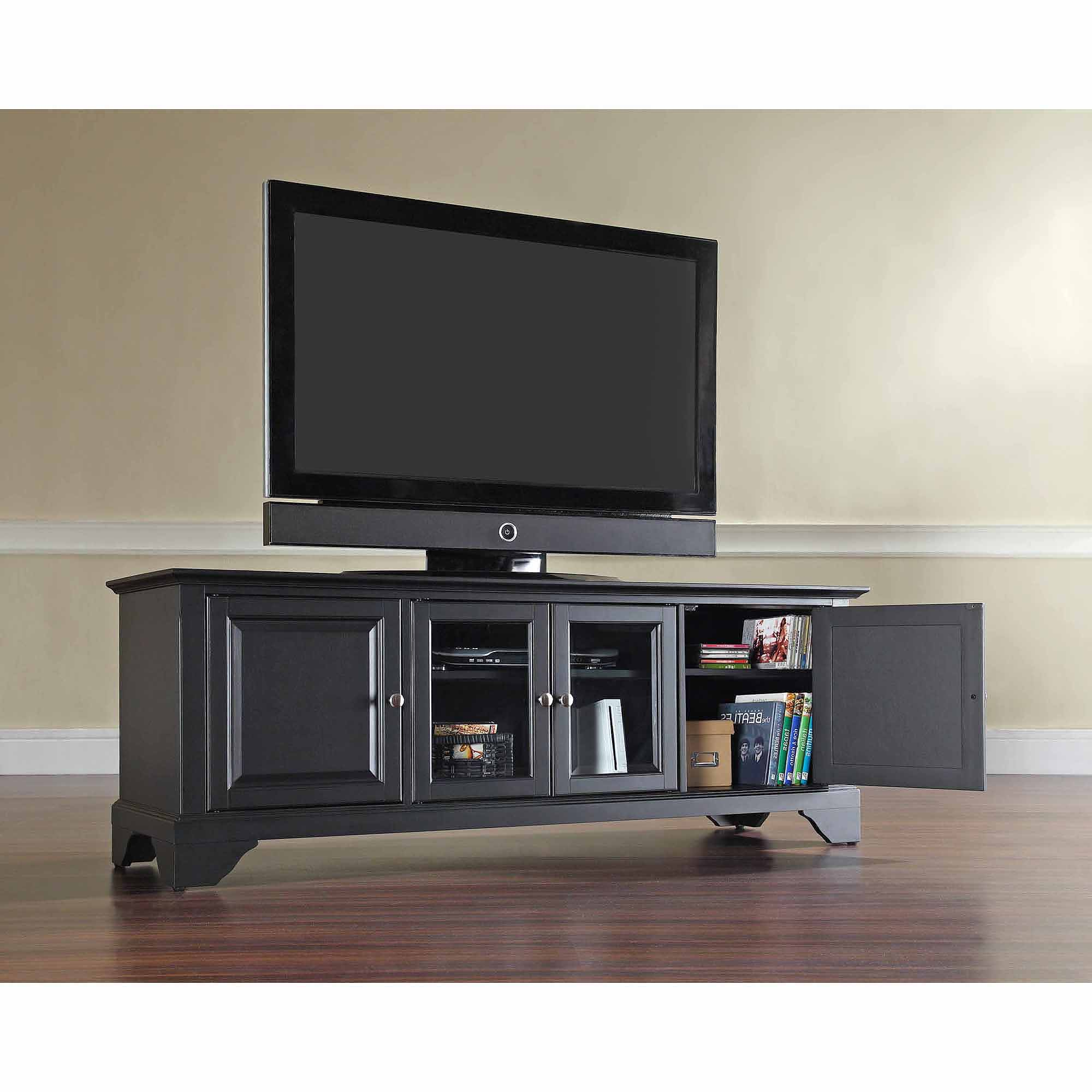 Most Recently Released Modern Low Profile Tv Stands In Crosley Furniture Lafayette Low Profile Tv Stand For Tvs Up To (View 16 of 20)